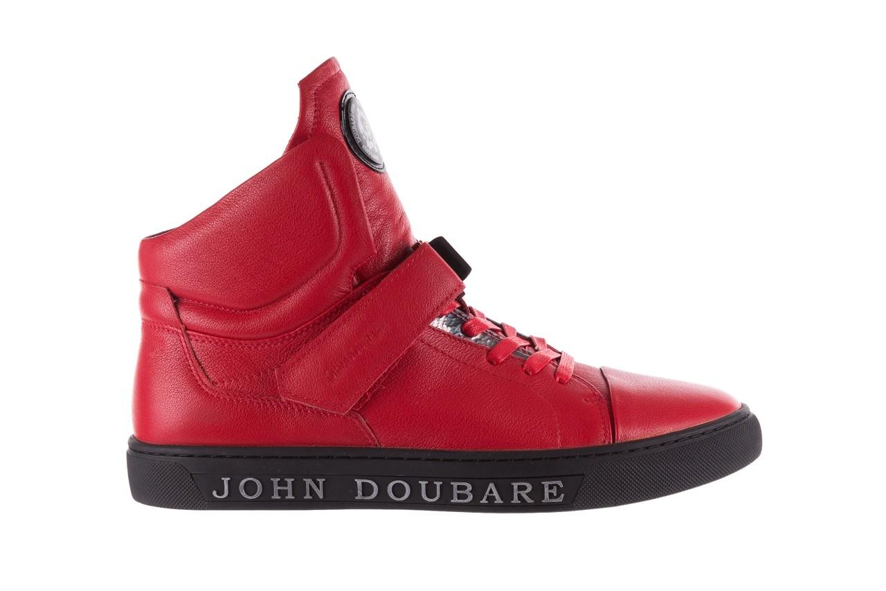 Sneakersy john doubare m78516b-3 red, czerwony, skóra naturalna - brooman - nasze marki 9