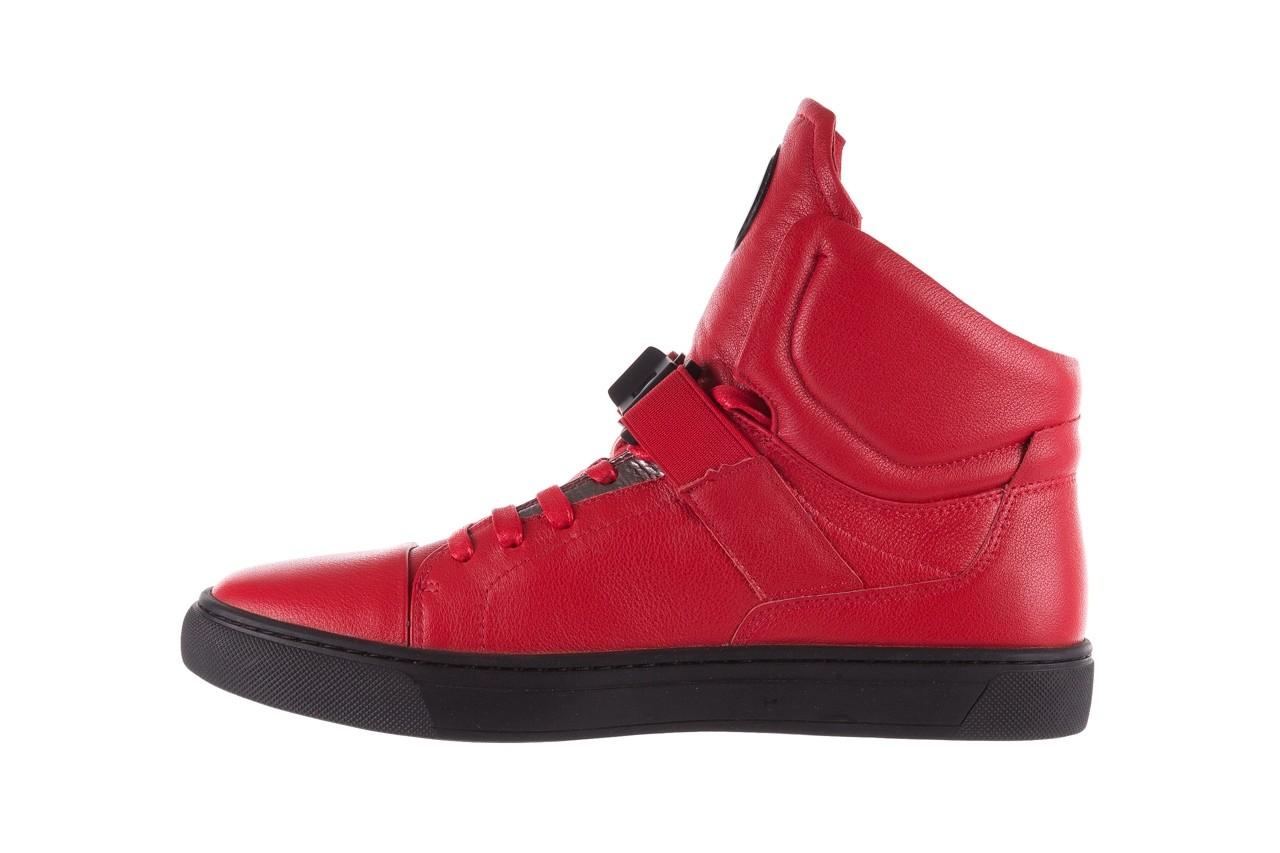 Sneakersy john doubare m78516b-3 red, czerwony, skóra naturalna - brooman - nasze marki 11