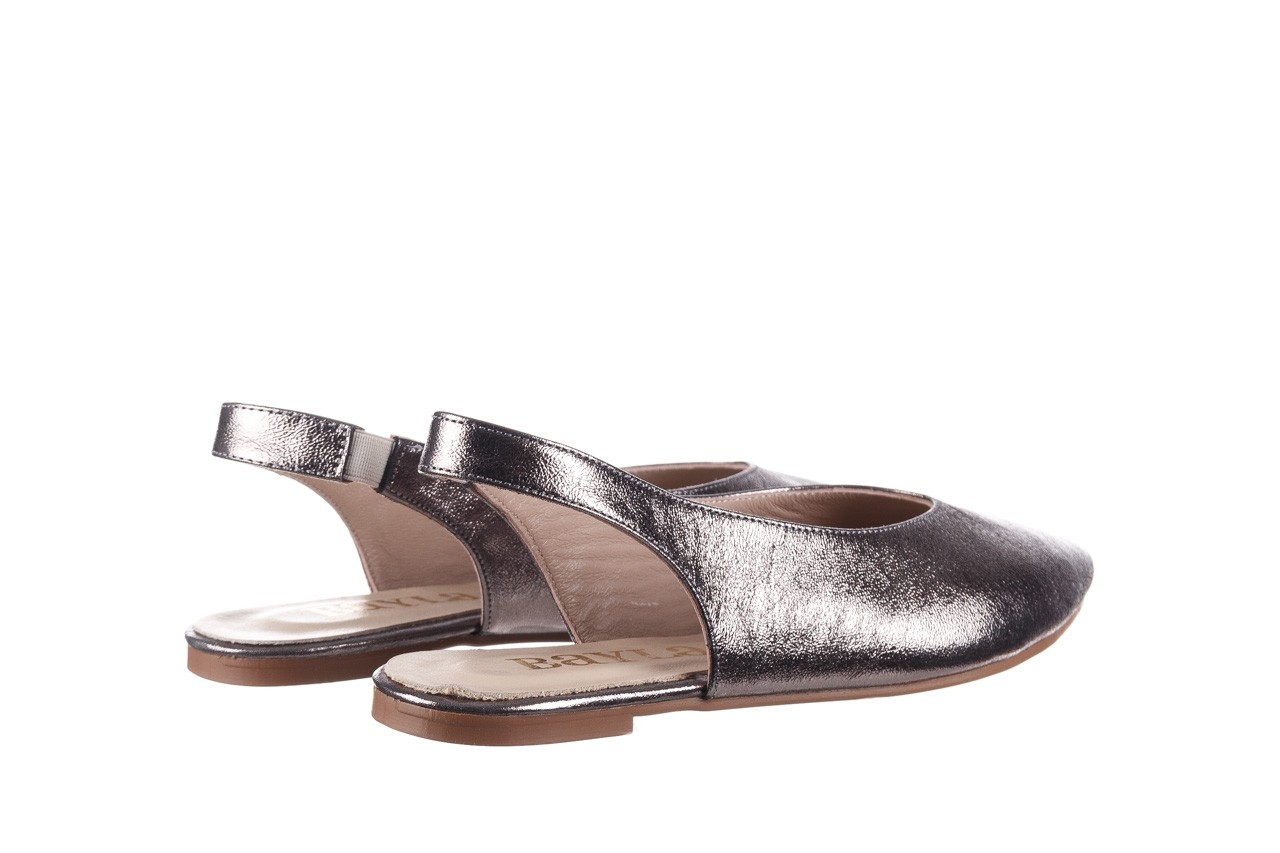 Sandały bayla-161 093 388 4034 platin, srebrny, skóra naturalna - płaskie - sandały - buty damskie - kobieta 10