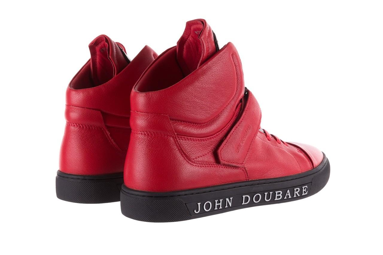 Sneakersy john doubare m78516b-3 red, czerwony, skóra naturalna - brooman - nasze marki 12