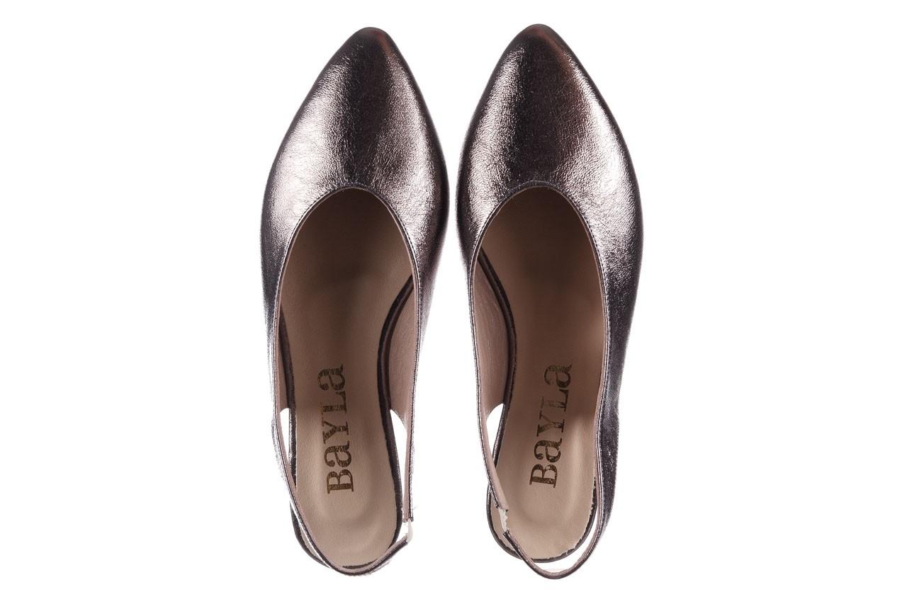 Sandały bayla-161 093 388 4034 platin, srebrny, skóra naturalna - płaskie - sandały - buty damskie - kobieta 11