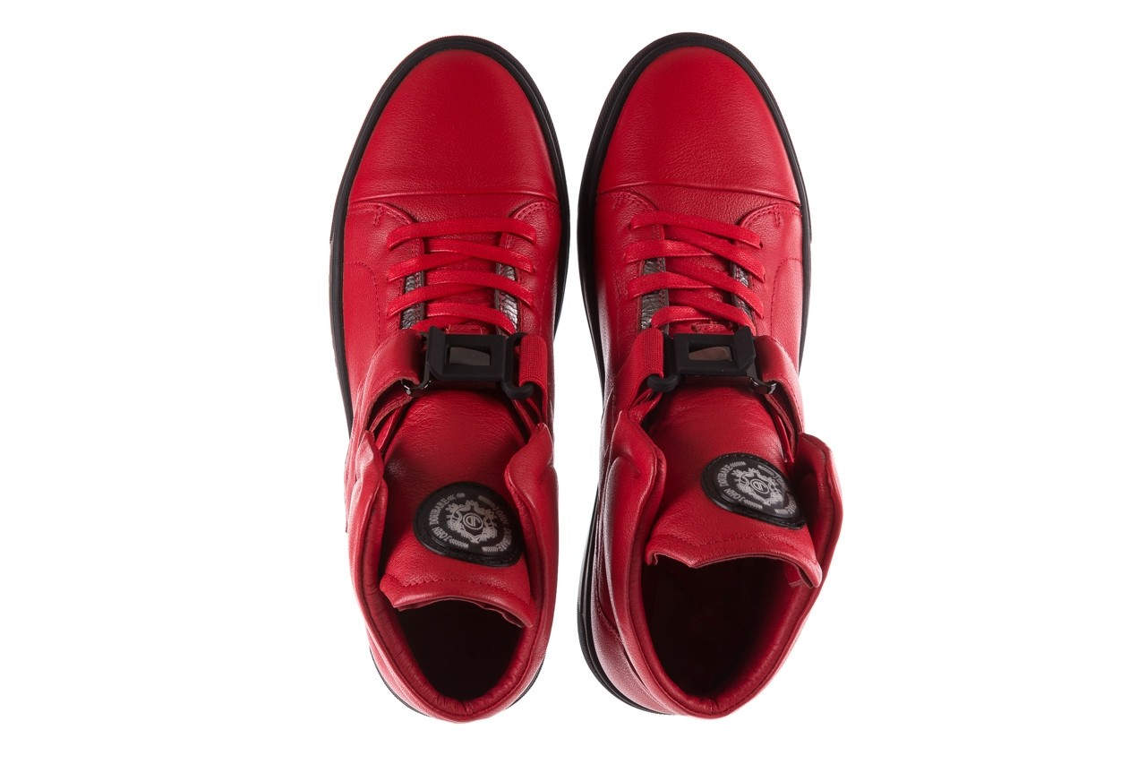 Sneakersy john doubare m78516b-3 red, czerwony, skóra naturalna - brooman - nasze marki 13