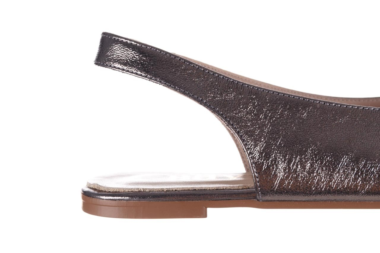 Sandały bayla-161 093 388 4034 platin, srebrny, skóra naturalna - płaskie - sandały - buty damskie - kobieta 13