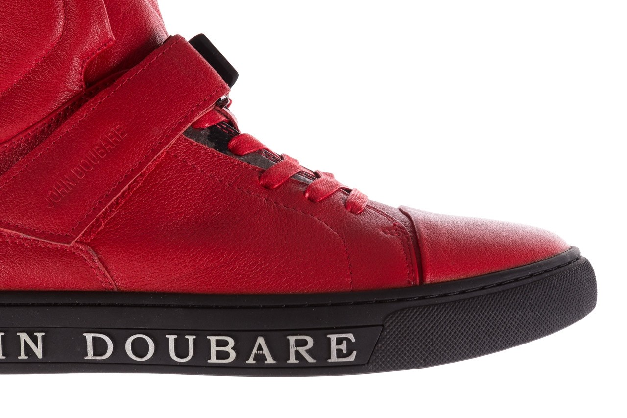 Sneakersy john doubare m78516b-3 red, czerwony, skóra naturalna - brooman - nasze marki 14