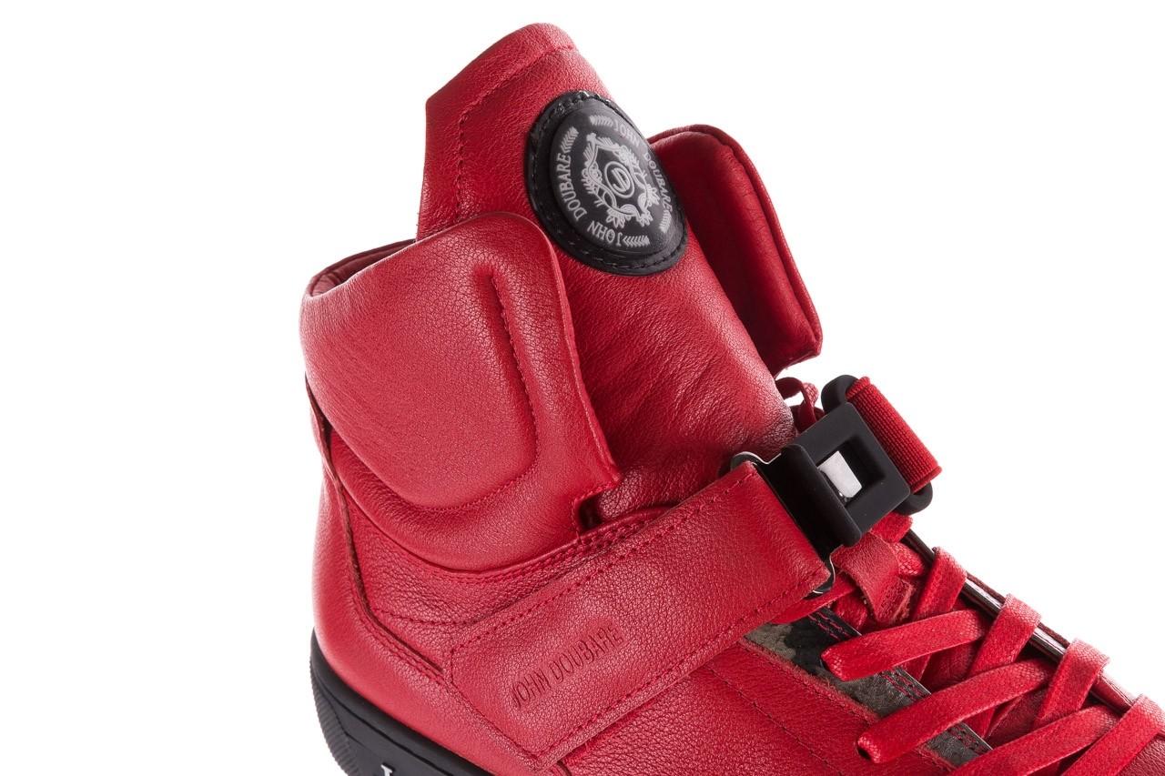 Sneakersy john doubare m78516b-3 red, czerwony, skóra naturalna - brooman - nasze marki 15