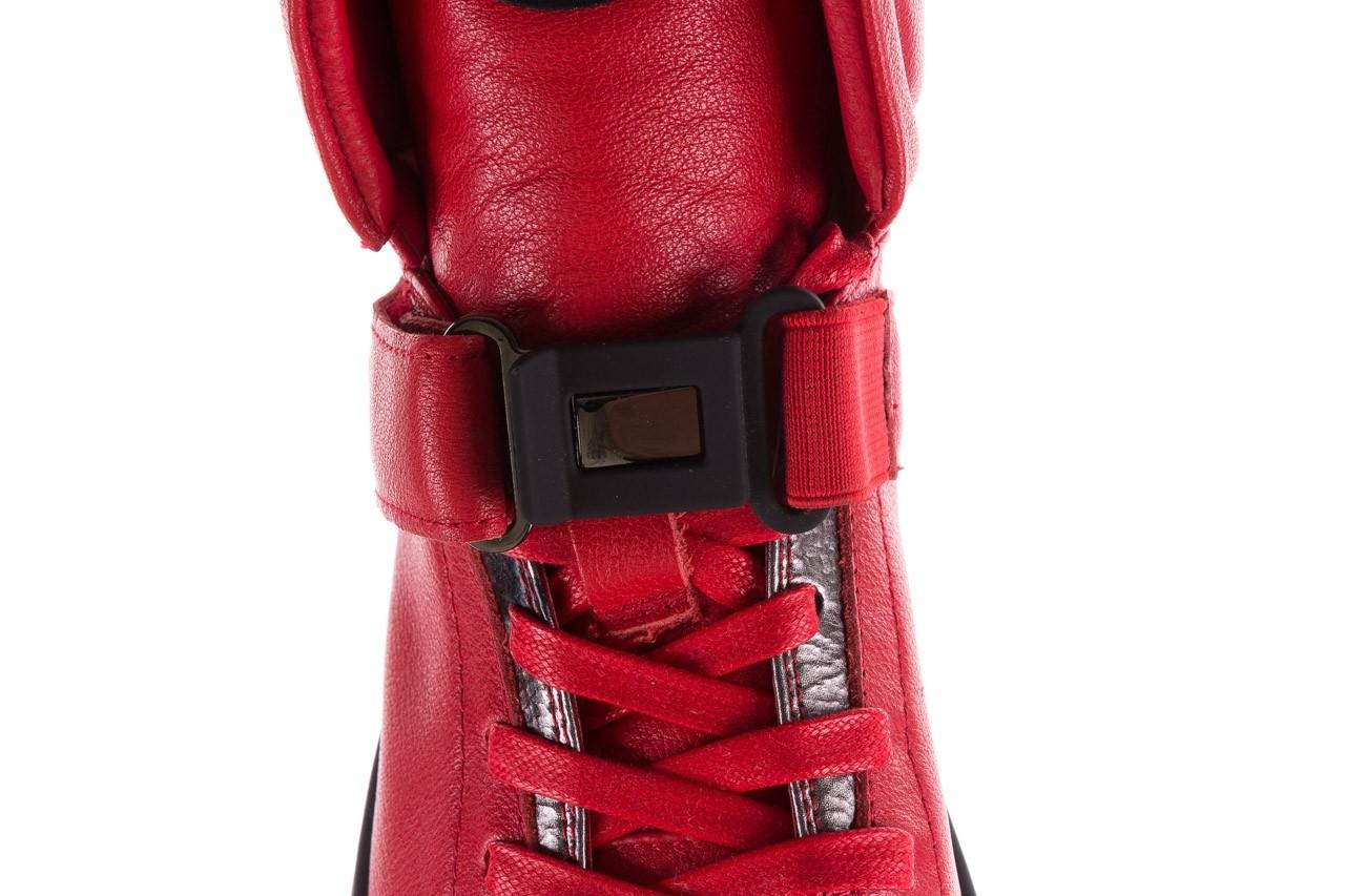 Sneakersy john doubare m78516b-3 red, czerwony, skóra naturalna - brooman - nasze marki 16