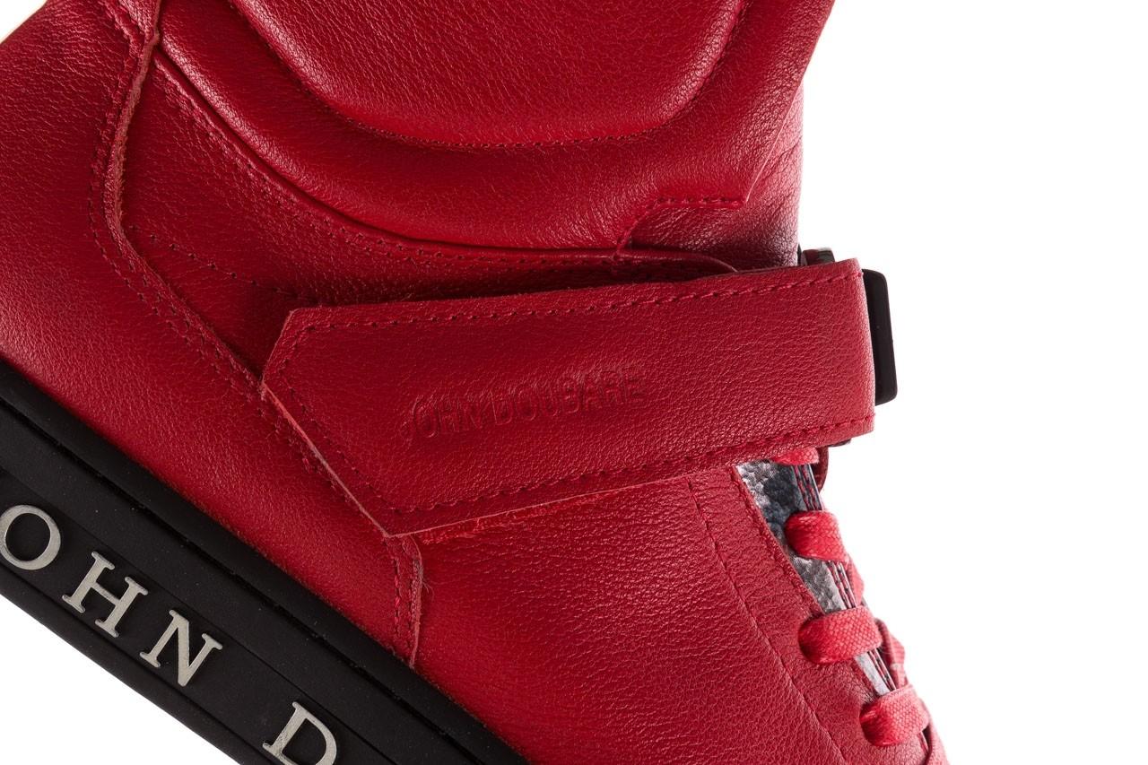 Sneakersy john doubare m78516b-3 red, czerwony, skóra naturalna - brooman - nasze marki 17