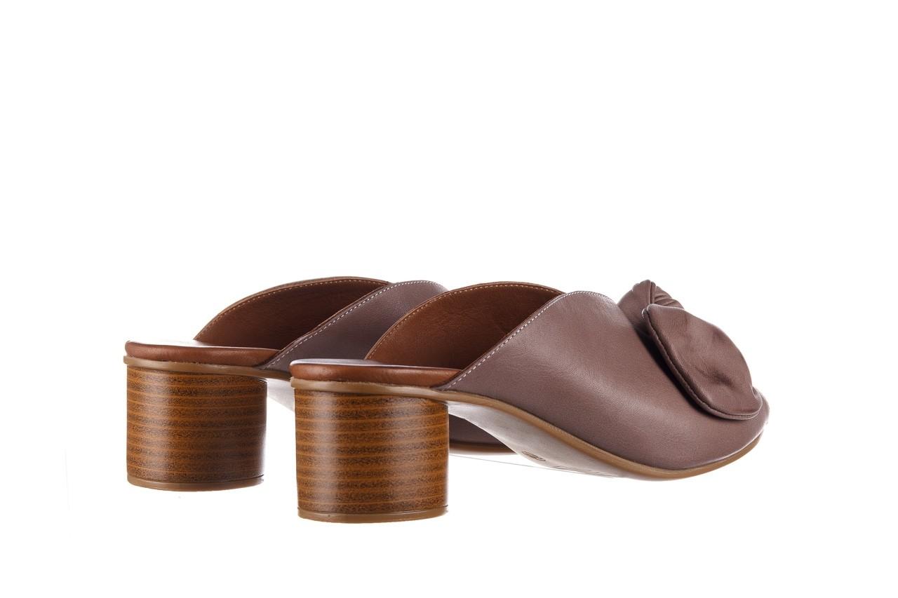 Klapki bayla-161 061 1029 hat, beż, skóra naturalna  - bayla - nasze marki 11