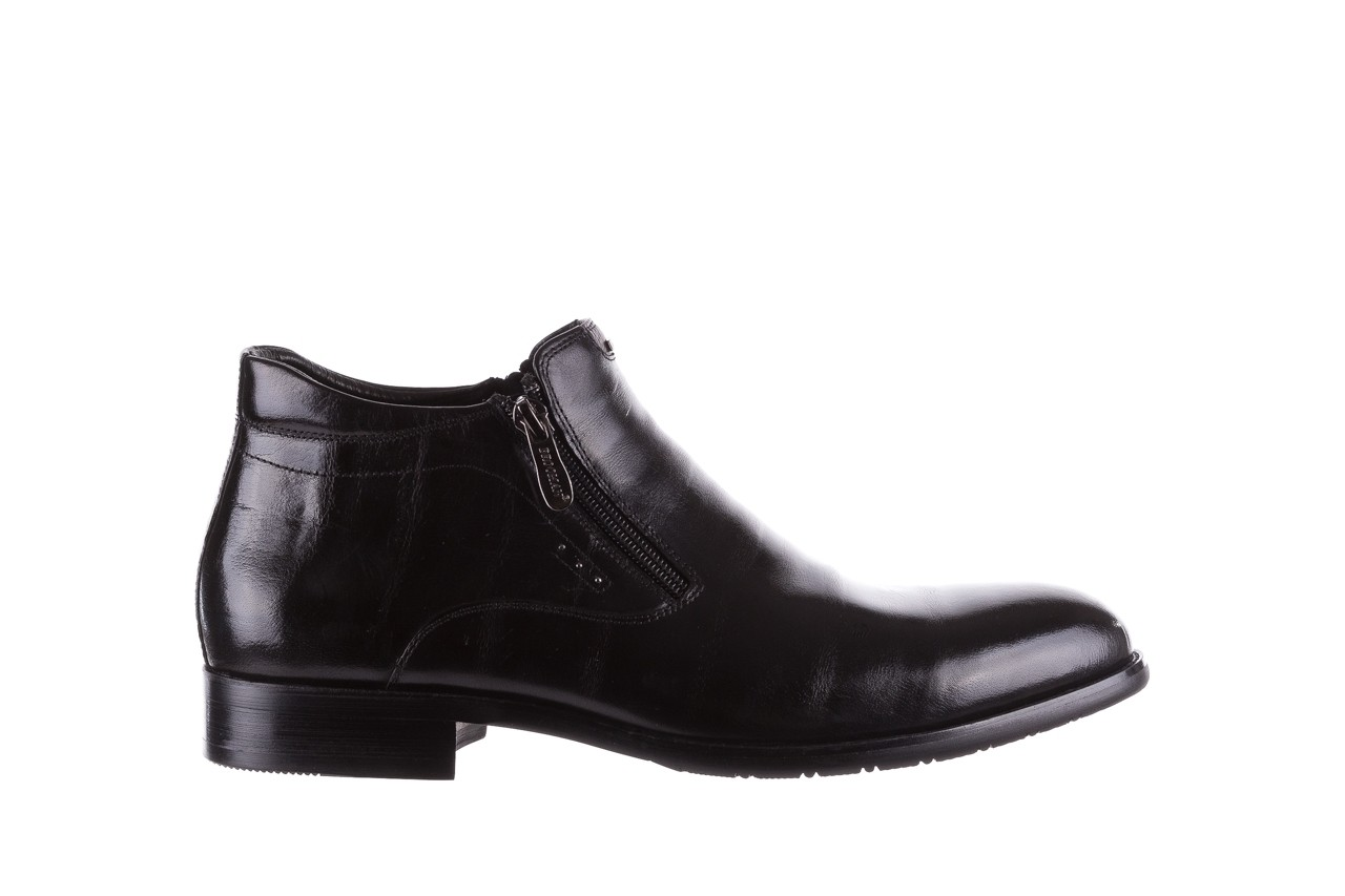 Półbuty brooman 7721b-712g183-r black, czarny, skóra naturalna  - trzewiki - buty męskie - mężczyzna 7
