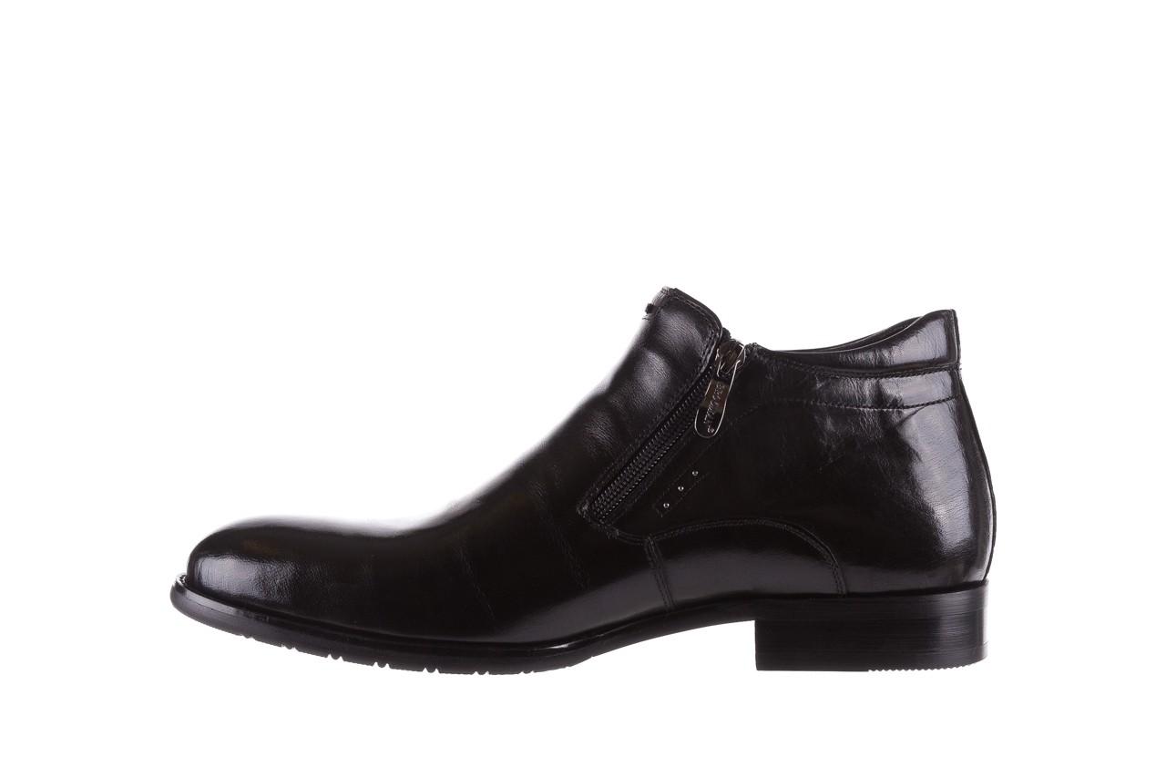 Półbuty brooman 7721b-712g183-r black, czarny, skóra naturalna  - trzewiki - buty męskie - mężczyzna 9
