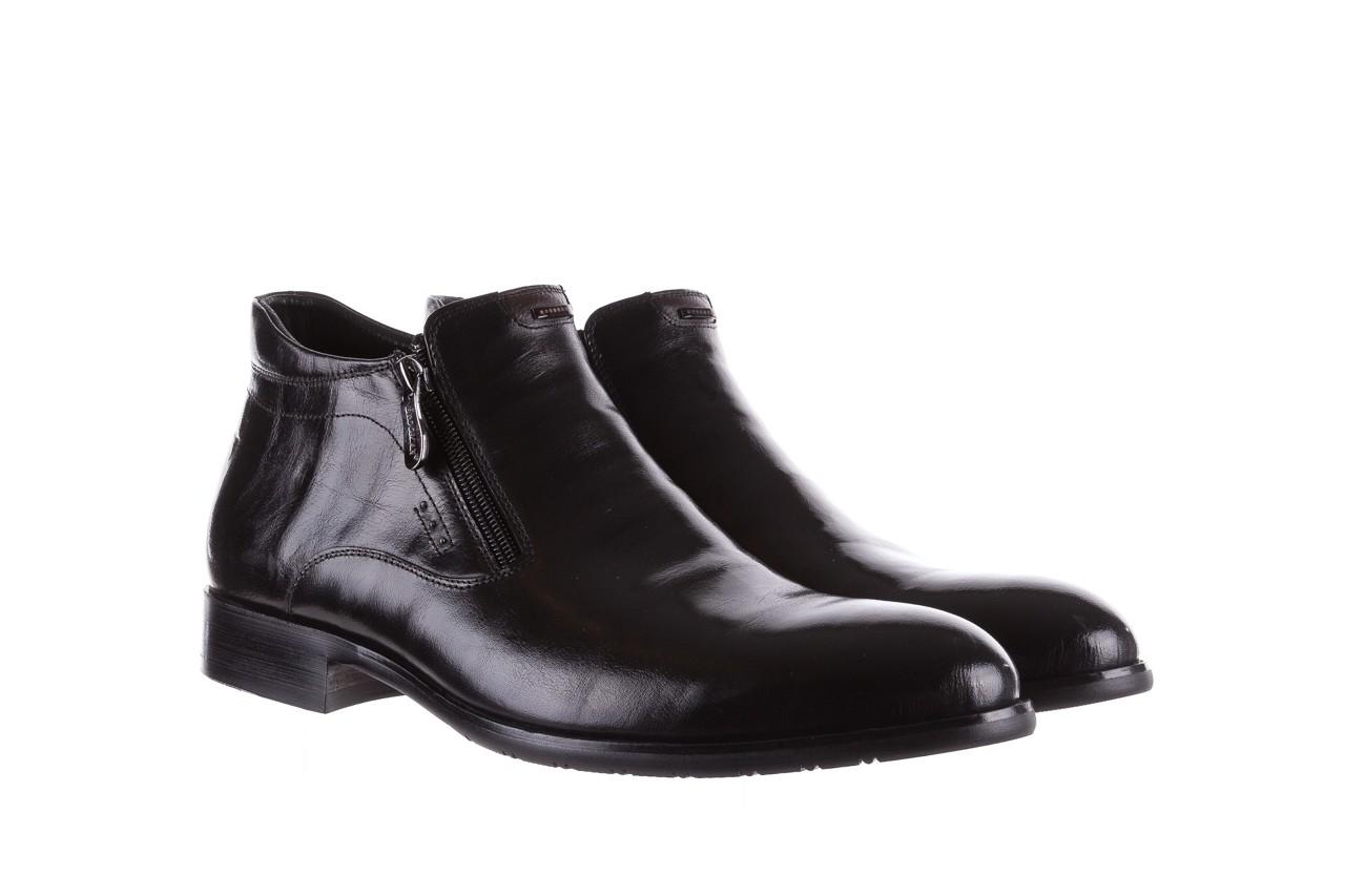Półbuty brooman 7721b-712g183-r black, czarny, skóra naturalna  - trzewiki - buty męskie - mężczyzna 8