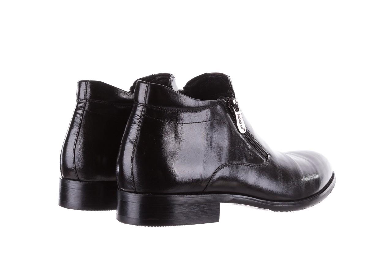 Półbuty brooman 7721b-712g183-r black, czarny, skóra naturalna  - trzewiki - buty męskie - mężczyzna 10