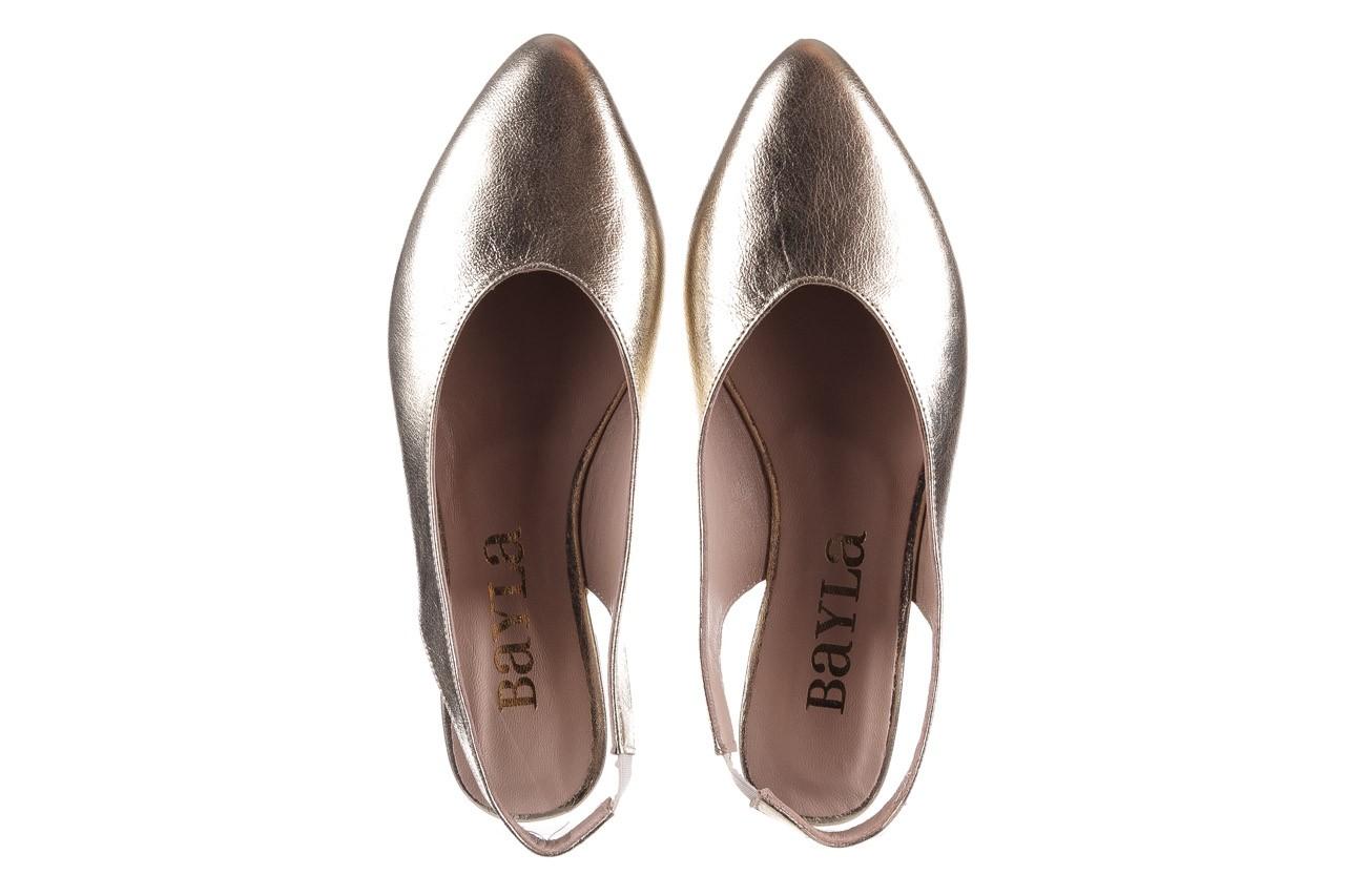 Sandały bayla-161 093 388 4034 gold, złoty, skóra naturalna - sandały - buty damskie - kobieta 11