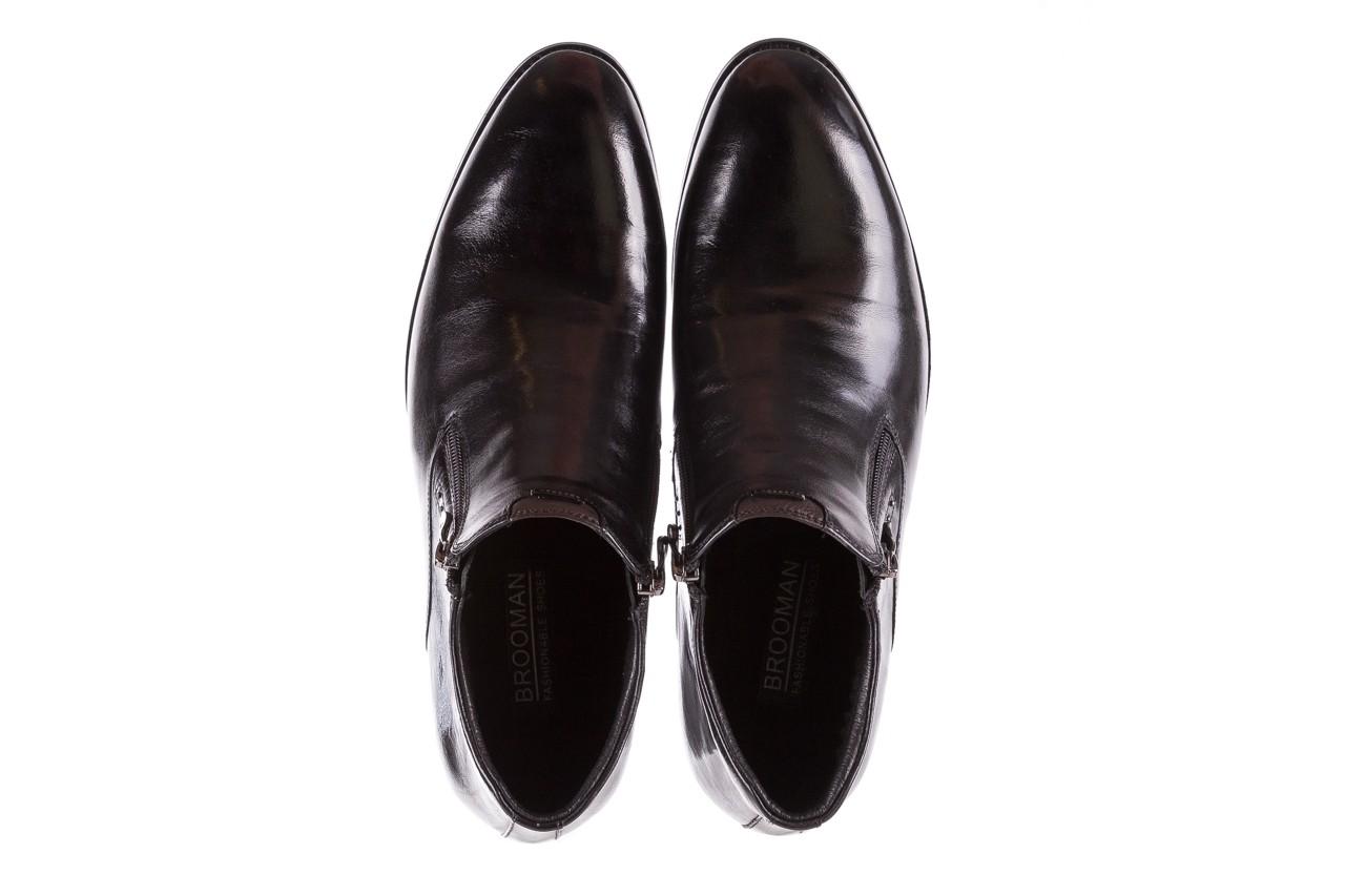 Półbuty brooman 7721b-712g183-r black, czarny, skóra naturalna  - trzewiki - buty męskie - mężczyzna 11