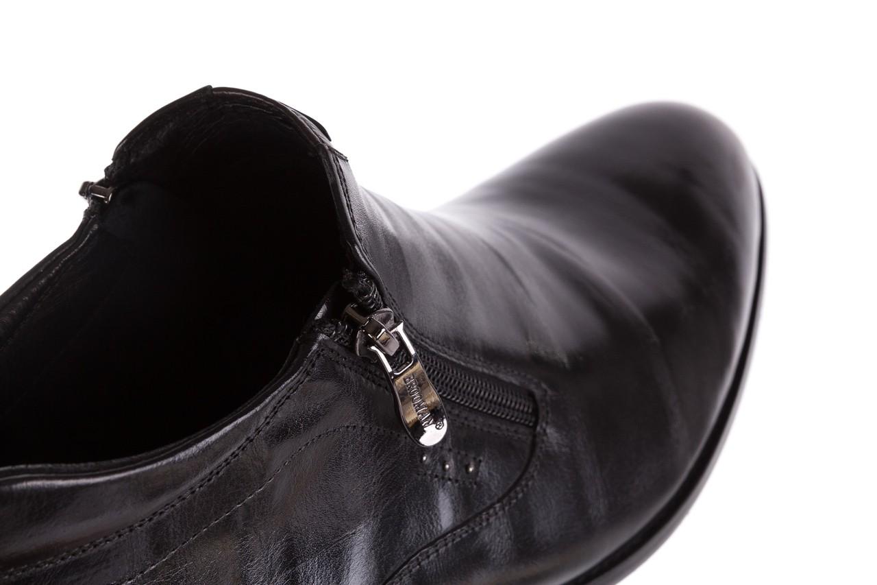 Półbuty brooman 7721b-712g183-r black, czarny, skóra naturalna  - trzewiki - buty męskie - mężczyzna 12