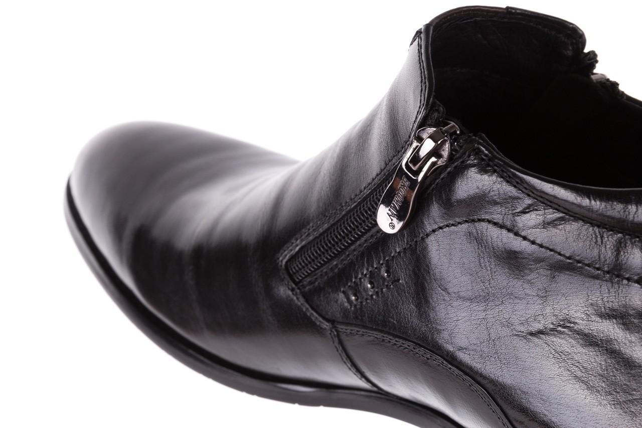 Półbuty brooman 7721b-712g183-r black, czarny, skóra naturalna  - trzewiki - buty męskie - mężczyzna 13