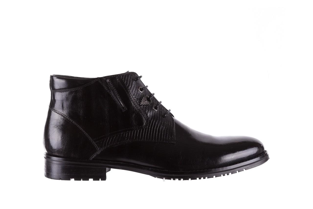 Półbuty brooman 768b-711g183-r black, czarny, skóra naturalna  - obuwie wizytowe - buty męskie - mężczyzna 7