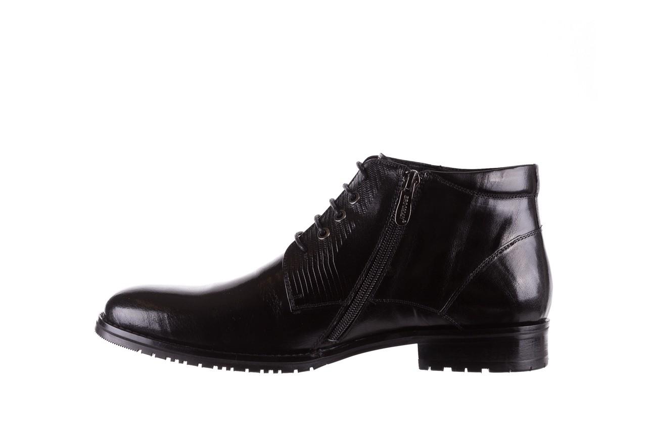 Półbuty brooman 768b-711g183-r black, czarny, skóra naturalna  - obuwie wizytowe - buty męskie - mężczyzna 9