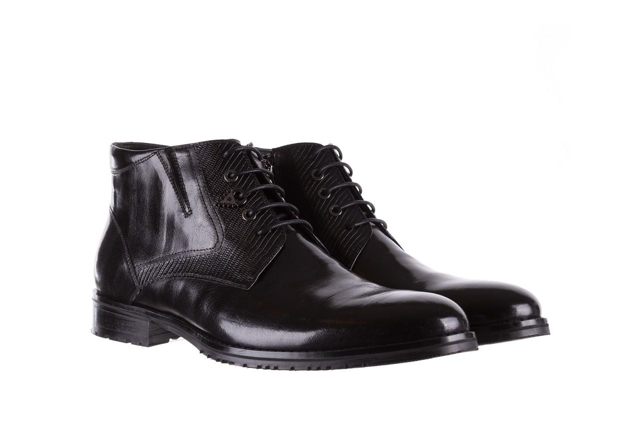 Półbuty brooman 768b-711g183-r black, czarny, skóra naturalna  - obuwie wizytowe - buty męskie - mężczyzna 8