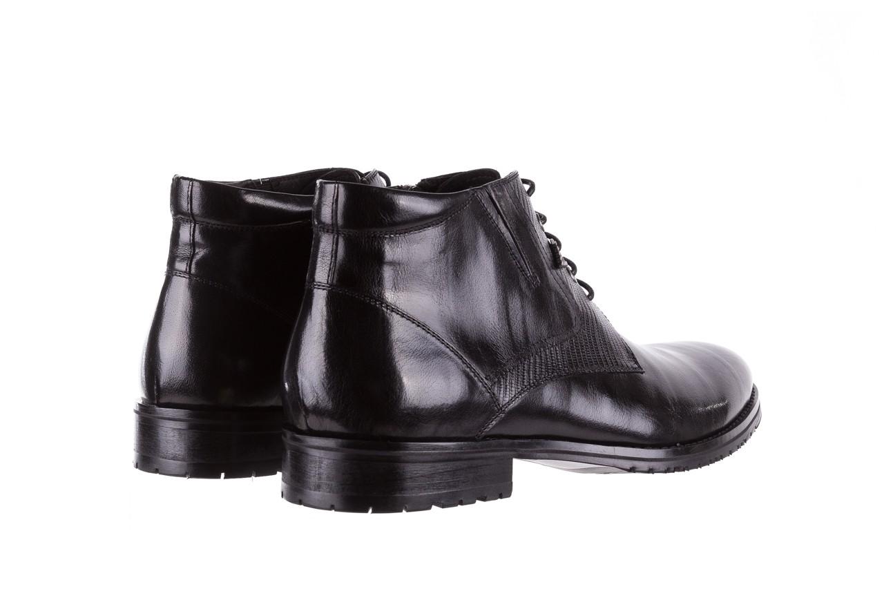 Półbuty brooman 768b-711g183-r black, czarny, skóra naturalna  - obuwie wizytowe - buty męskie - mężczyzna 10