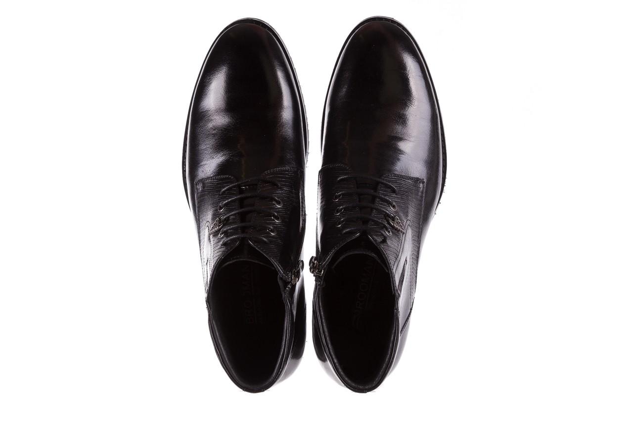 Półbuty brooman 768b-711g183-r black, czarny, skóra naturalna  - brooman - nasze marki 11