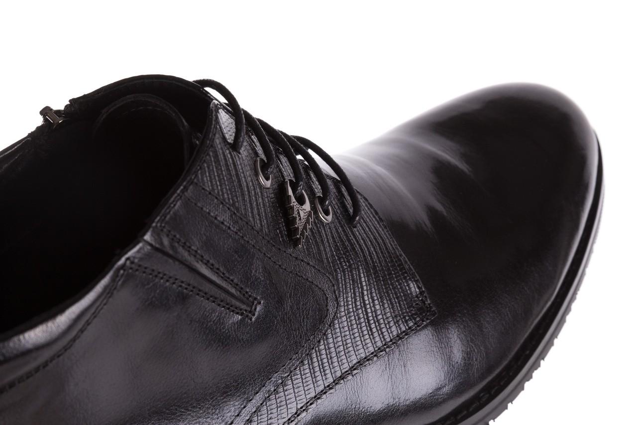 Półbuty brooman 768b-711g183-r black, czarny, skóra naturalna  - obuwie wizytowe - buty męskie - mężczyzna 12