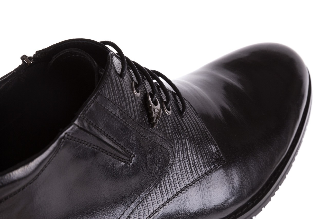 Półbuty brooman 768b-711g183-r black, czarny, skóra naturalna  - brooman - nasze marki 12