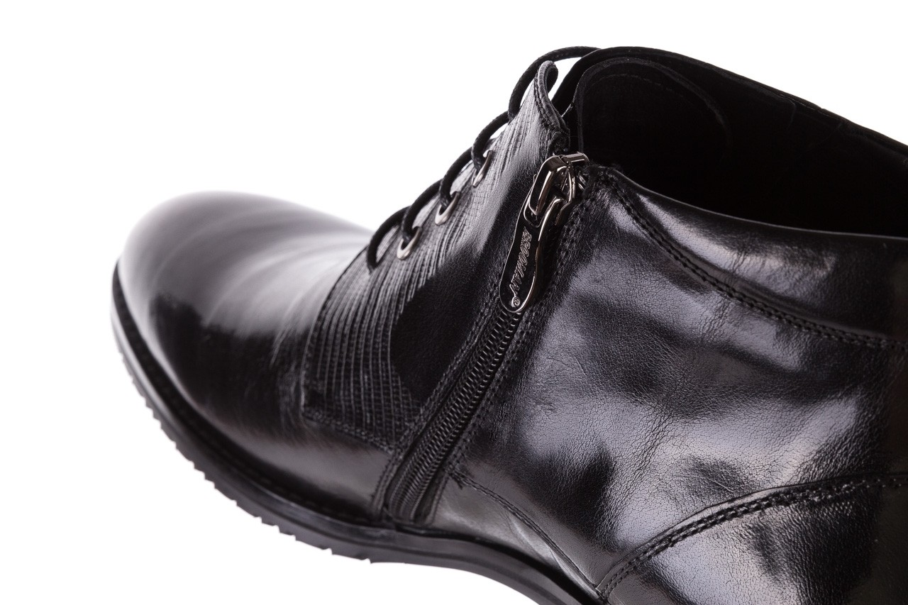 Półbuty brooman 768b-711g183-r black, czarny, skóra naturalna  - brooman - nasze marki 13