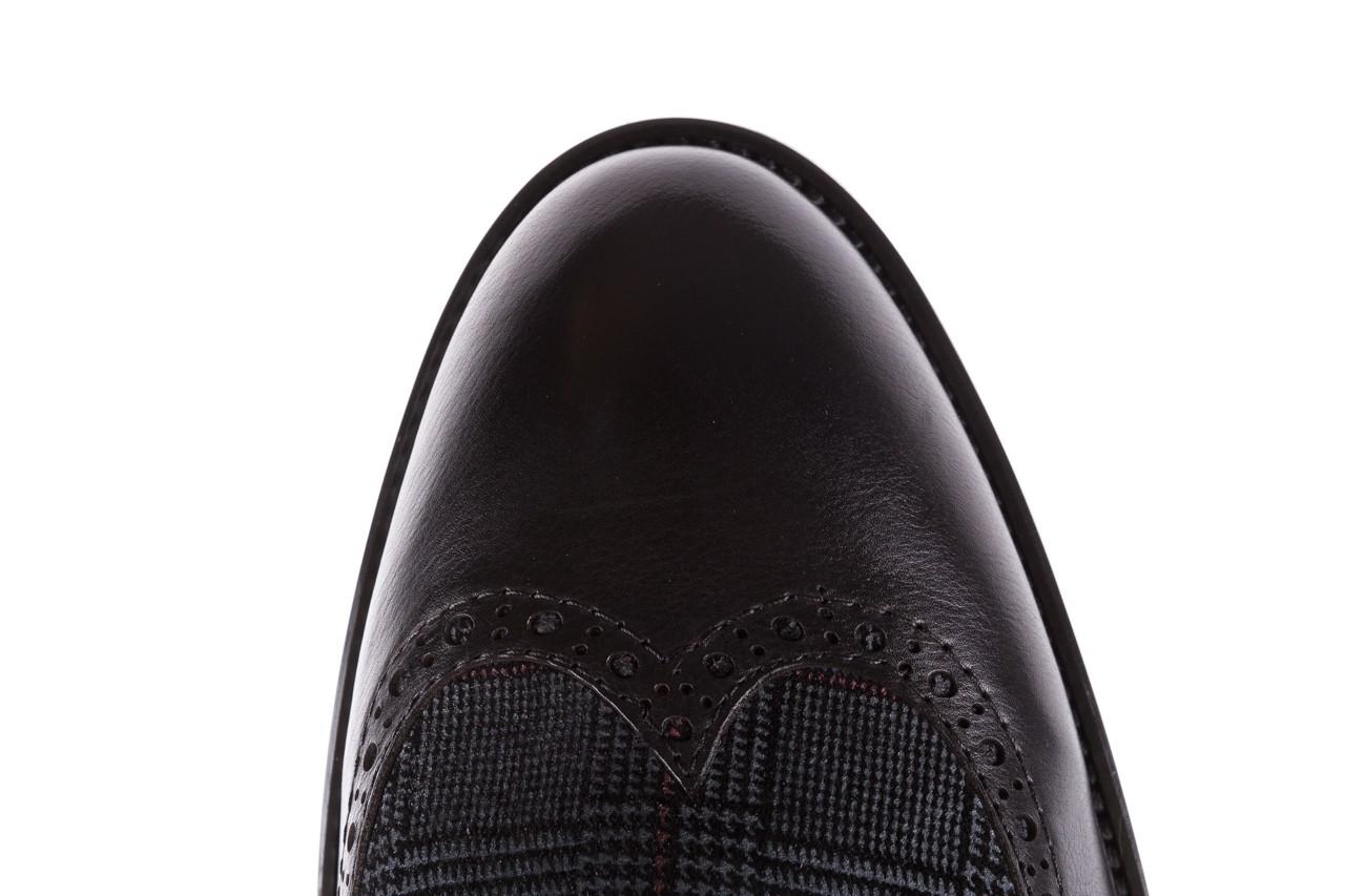 Półbuty brooman a2001-14-75-1-r black, czarny, skóra naturalna  - rozmiar 45 - mężczyzna - mega okazje - ostatnie rozmiary 15