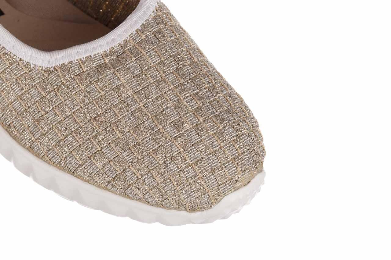 Baleriny rock sanya lt gold ice white binding, złoty, materiał  - baleriny - buty damskie - kobieta 12