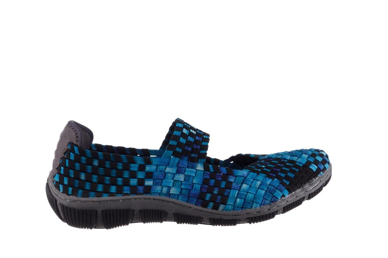 Półbuty rock cape town aqua blue smoke blk, niebieski, materiał - półbuty - buty damskie - kobieta 7