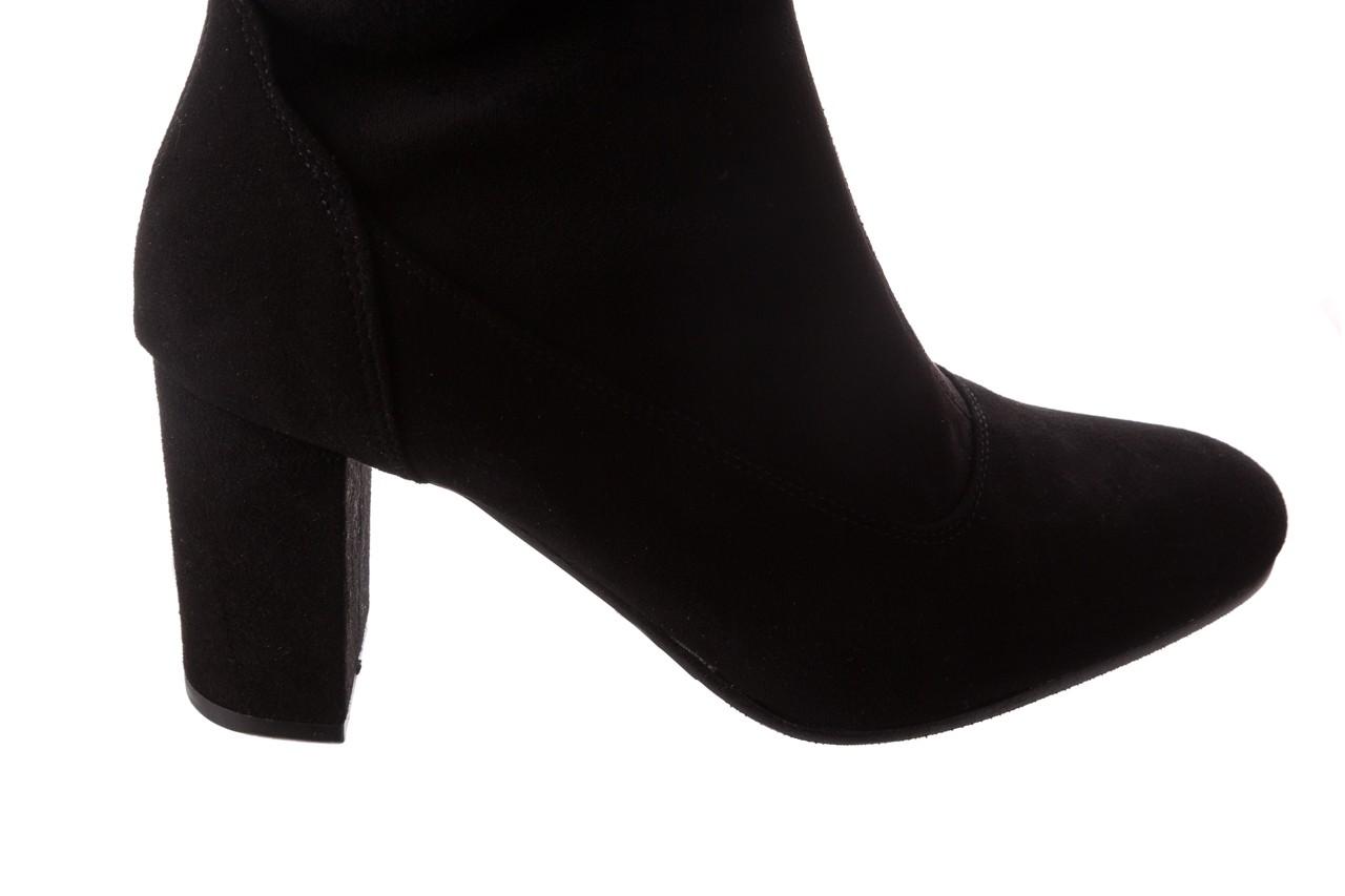 Kozaki bayla-130 4877 czarne kozaki muszkieterki, skóra ekologiczna - za kolano / muszkieterki - kozaki - buty damskie - kobieta 12