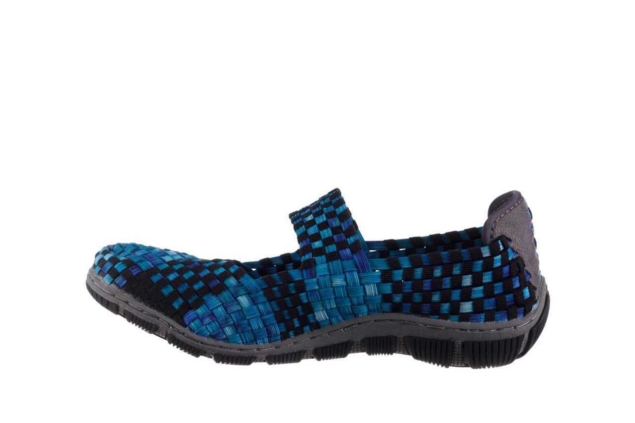Półbuty rock cape town aqua blue smoke blk, niebieski, materiał - półbuty - buty damskie - kobieta 9