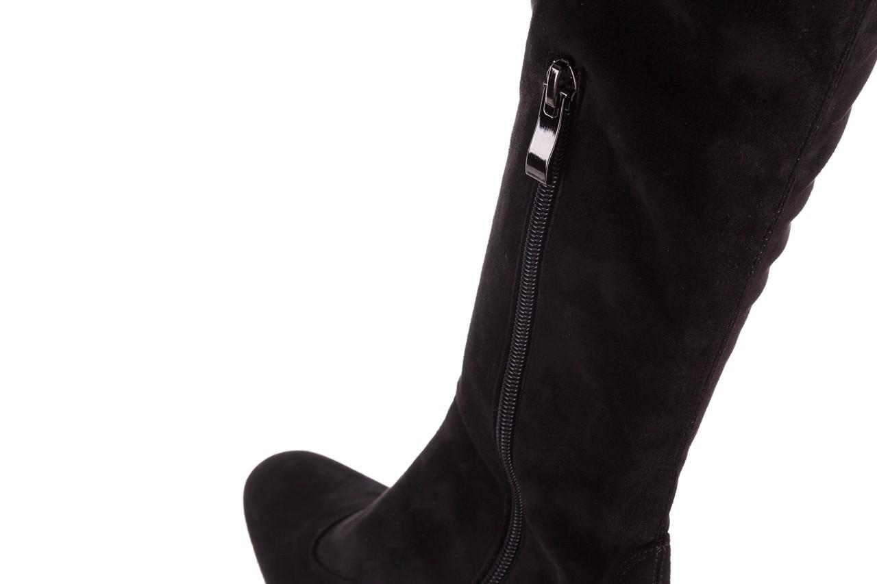 Kozaki bayla-130 4877 czarne kozaki muszkieterki, skóra ekologiczna - za kolano / muszkieterki - kozaki - buty damskie - kobieta 13