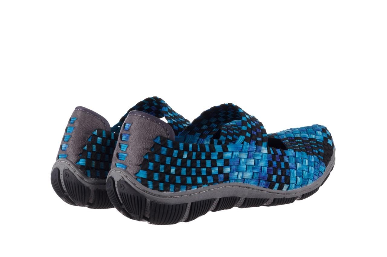 Półbuty rock cape town aqua blue smoke blk, niebieski, materiał - półbuty - buty damskie - kobieta 10