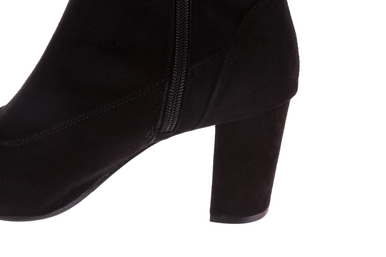 Kozaki bayla-130 4877 czarne kozaki muszkieterki, skóra ekologiczna - za kolano / muszkieterki - kozaki - buty damskie - kobieta 14