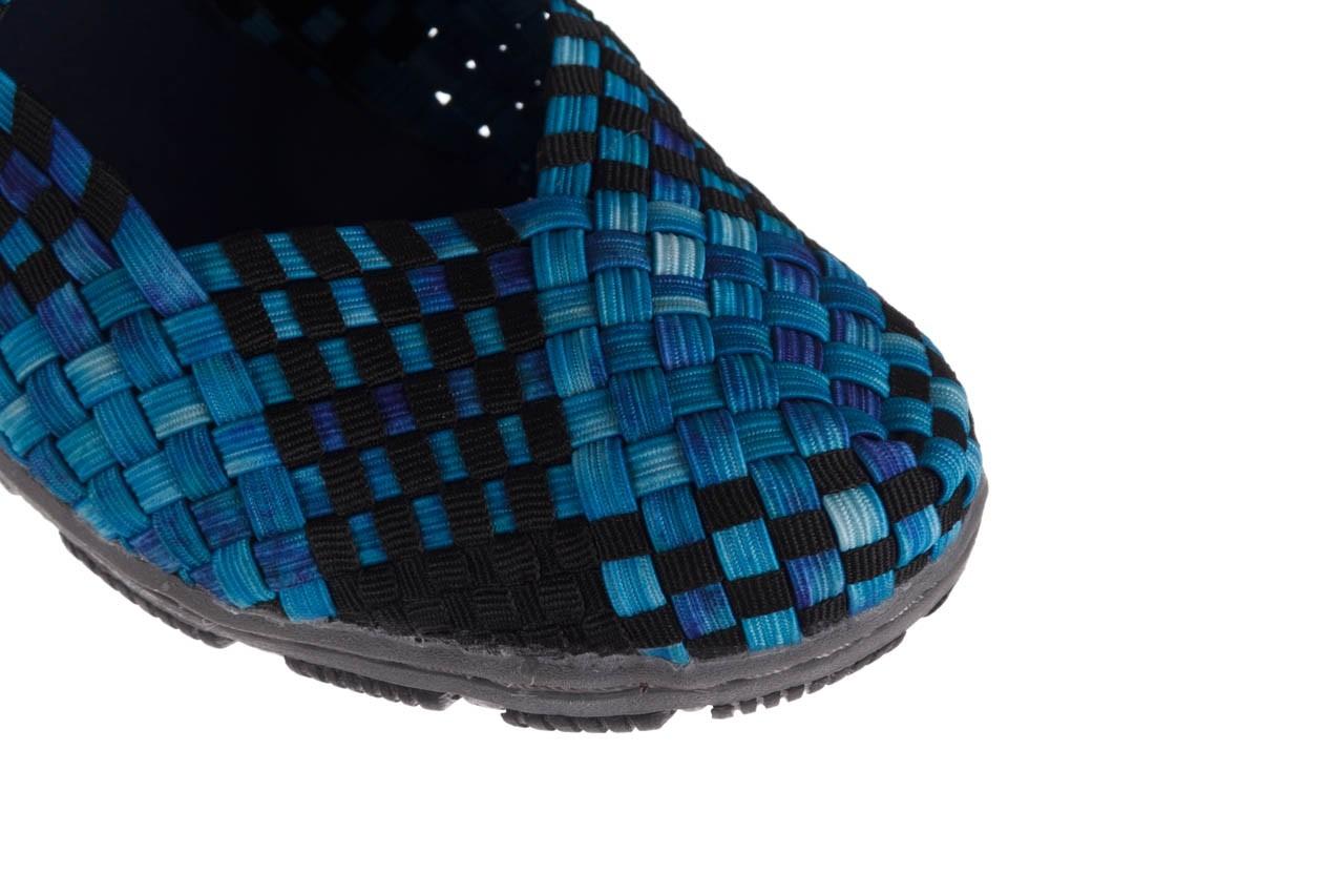 Półbuty rock cape town aqua blue smoke blk, niebieski, materiał - półbuty - buty damskie - kobieta 12