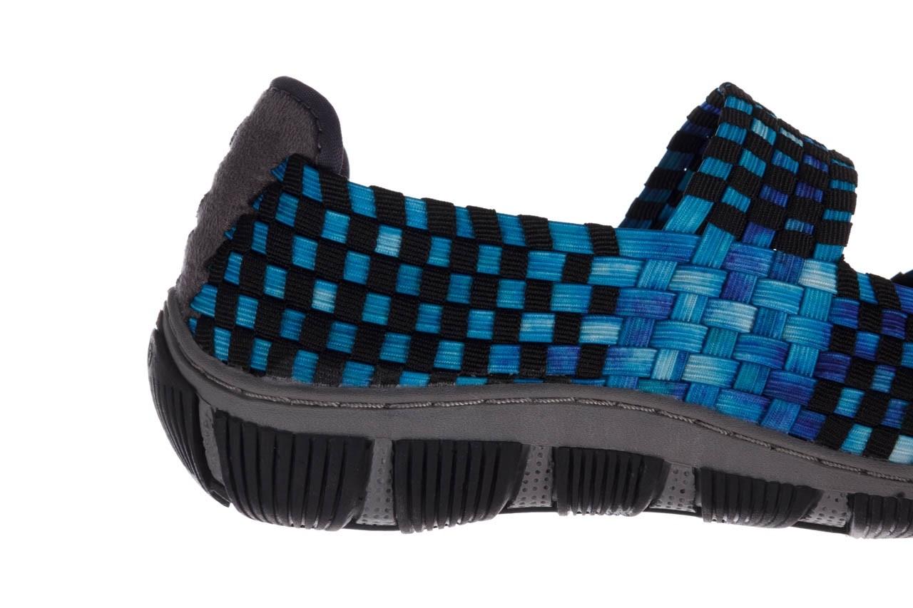 Półbuty rock cape town aqua blue smoke blk, niebieski, materiał - półbuty - buty damskie - kobieta 13