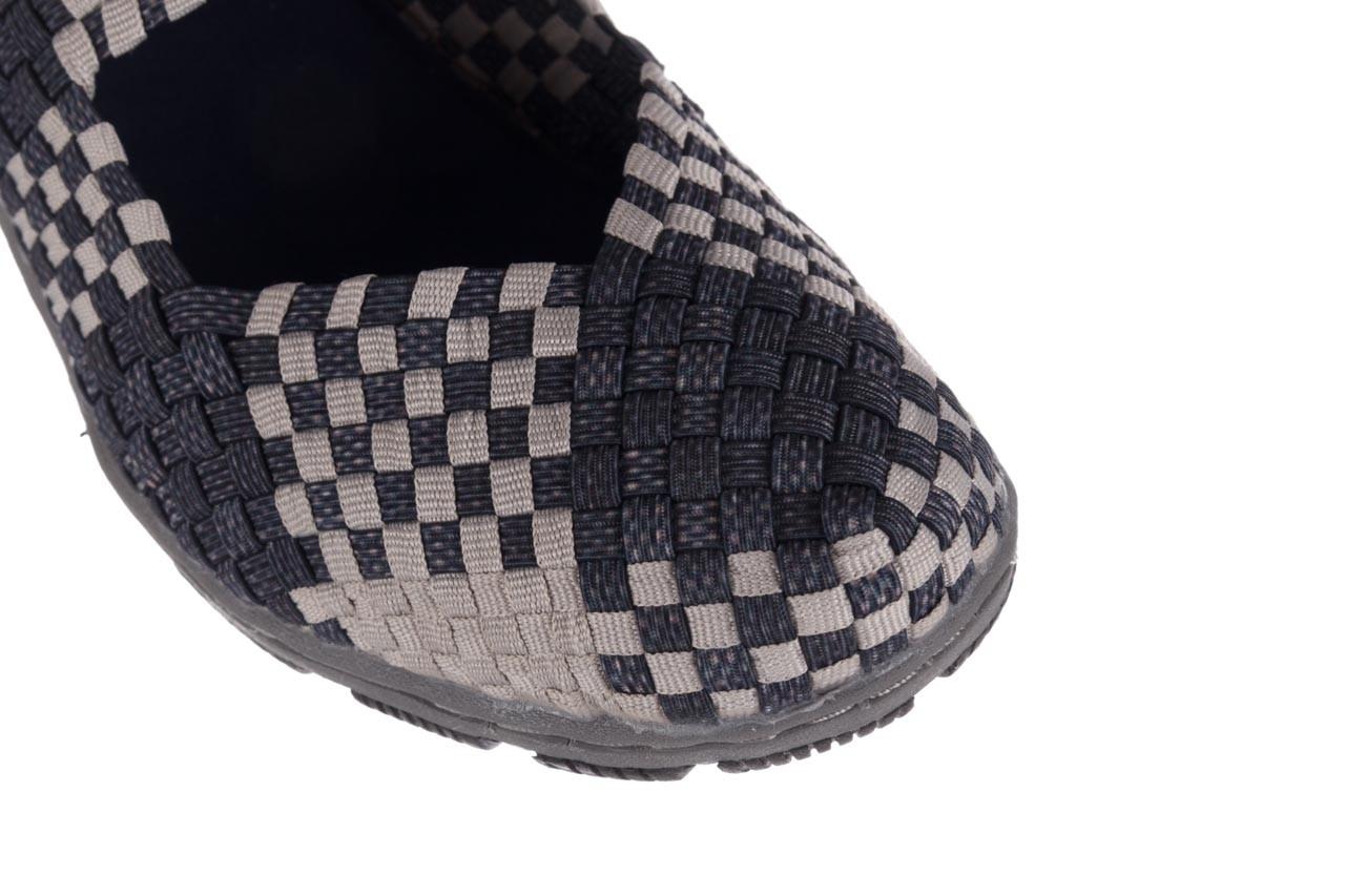 Półbuty rock cape town navy grey points smoke beige, szary, materiał - półbuty - buty damskie - kobieta 10