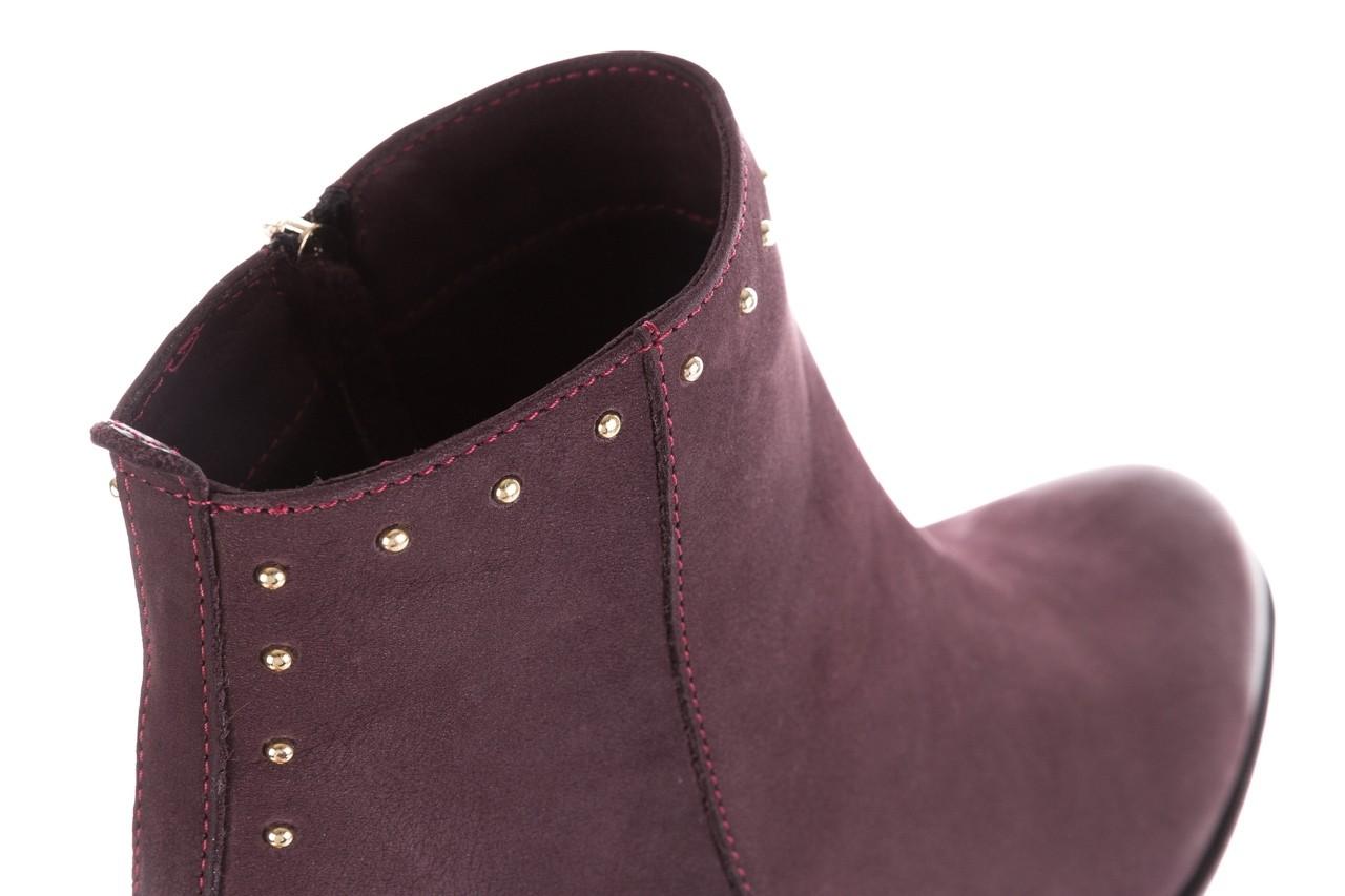 Botki bayla-170 2150 fioletowe botki, skóra naturalna - bayla - nasze marki 14
