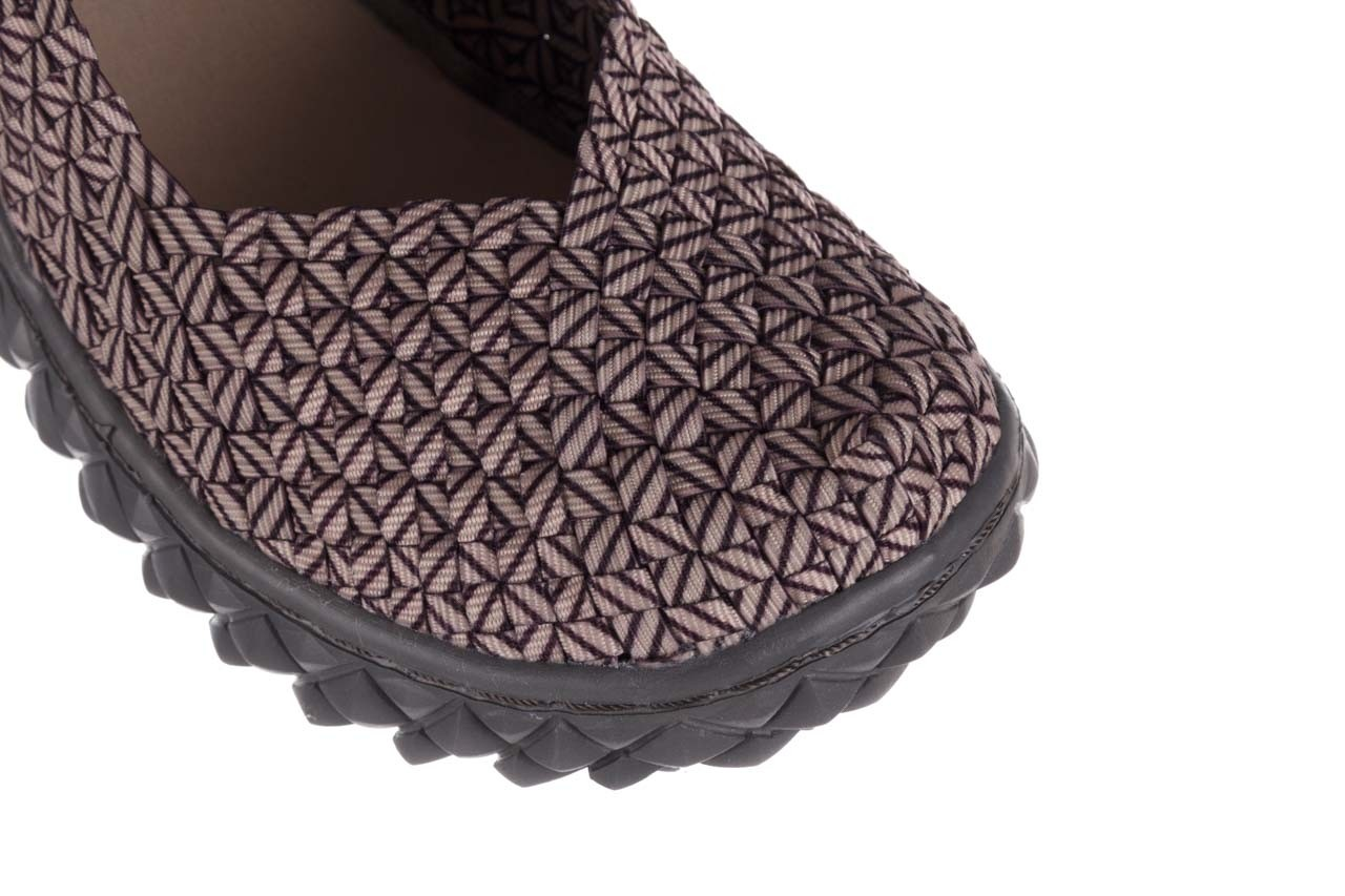 Półbuty rock over apricot smoke cof lines, beż, materiał - półbuty - buty damskie - kobieta 12