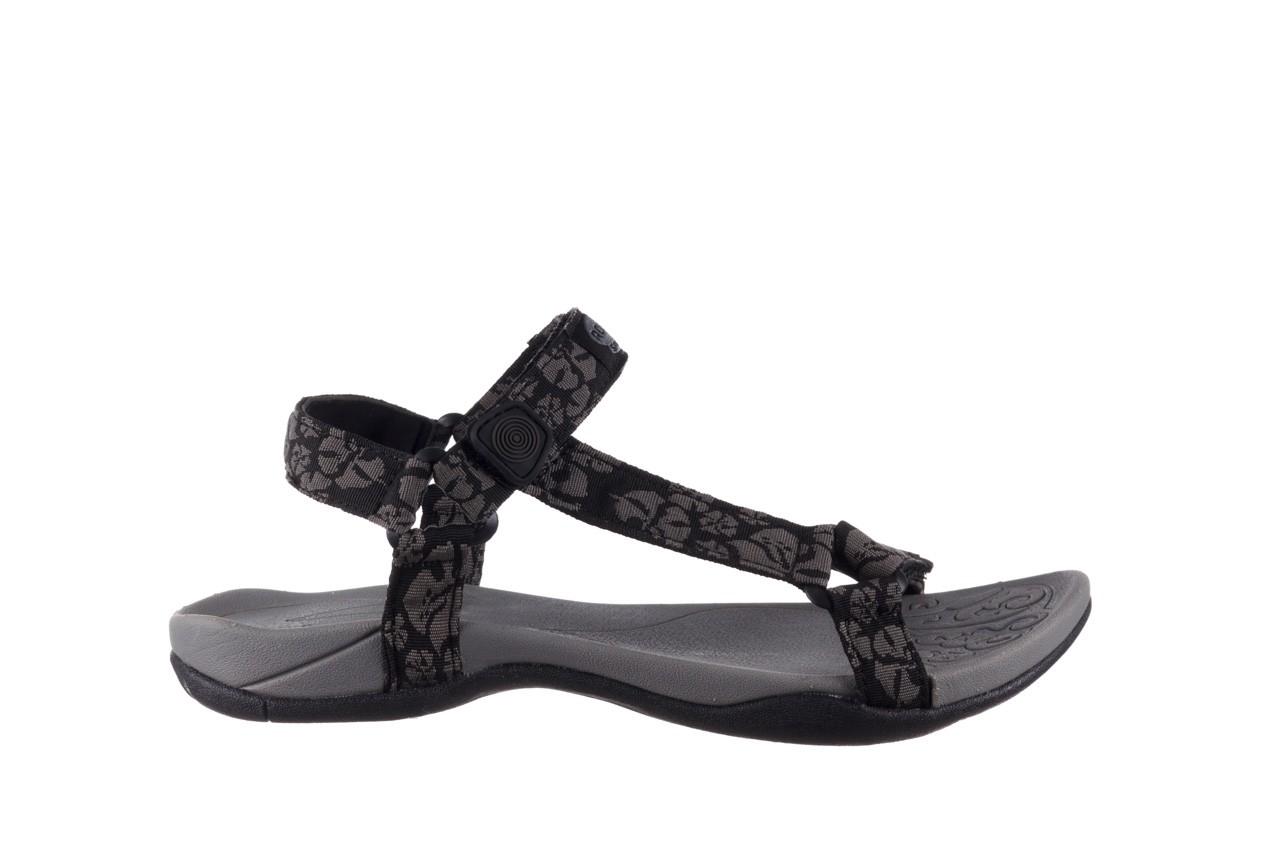 Sandały rock vinay black grey, czarny/ szary, materiał  - sandały - dla niej  - sale 7
