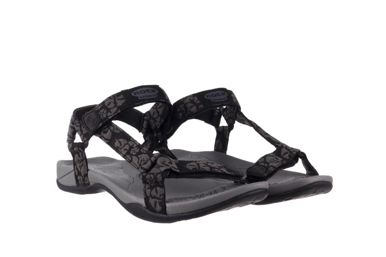 Sandały rock vinay black grey, czarny/ szary, materiał  - sandały - dla niej  - sale 8