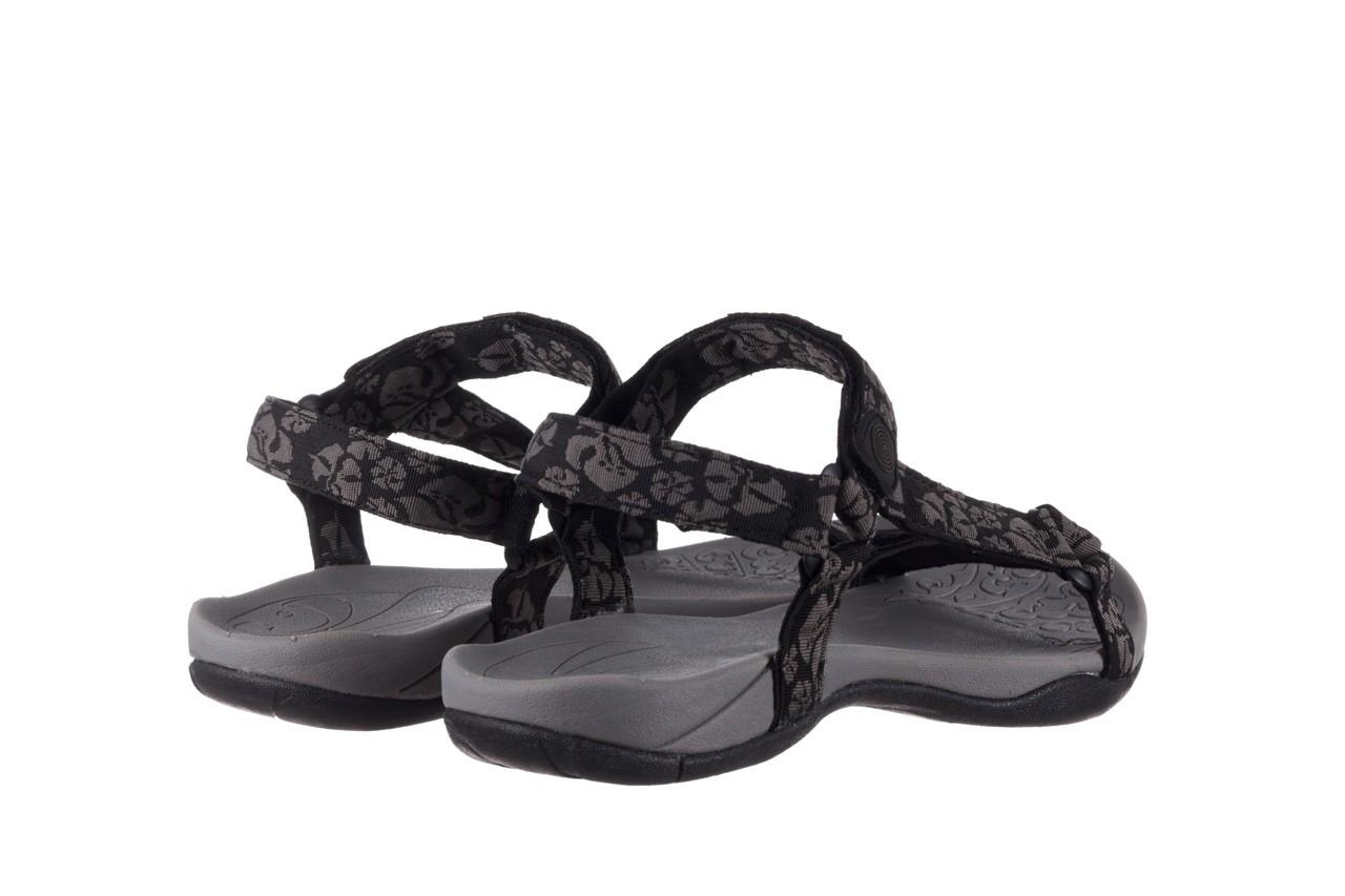 Sandały rock vinay black grey, czarny/ szary, materiał  - sandały - dla niej  - sale 10