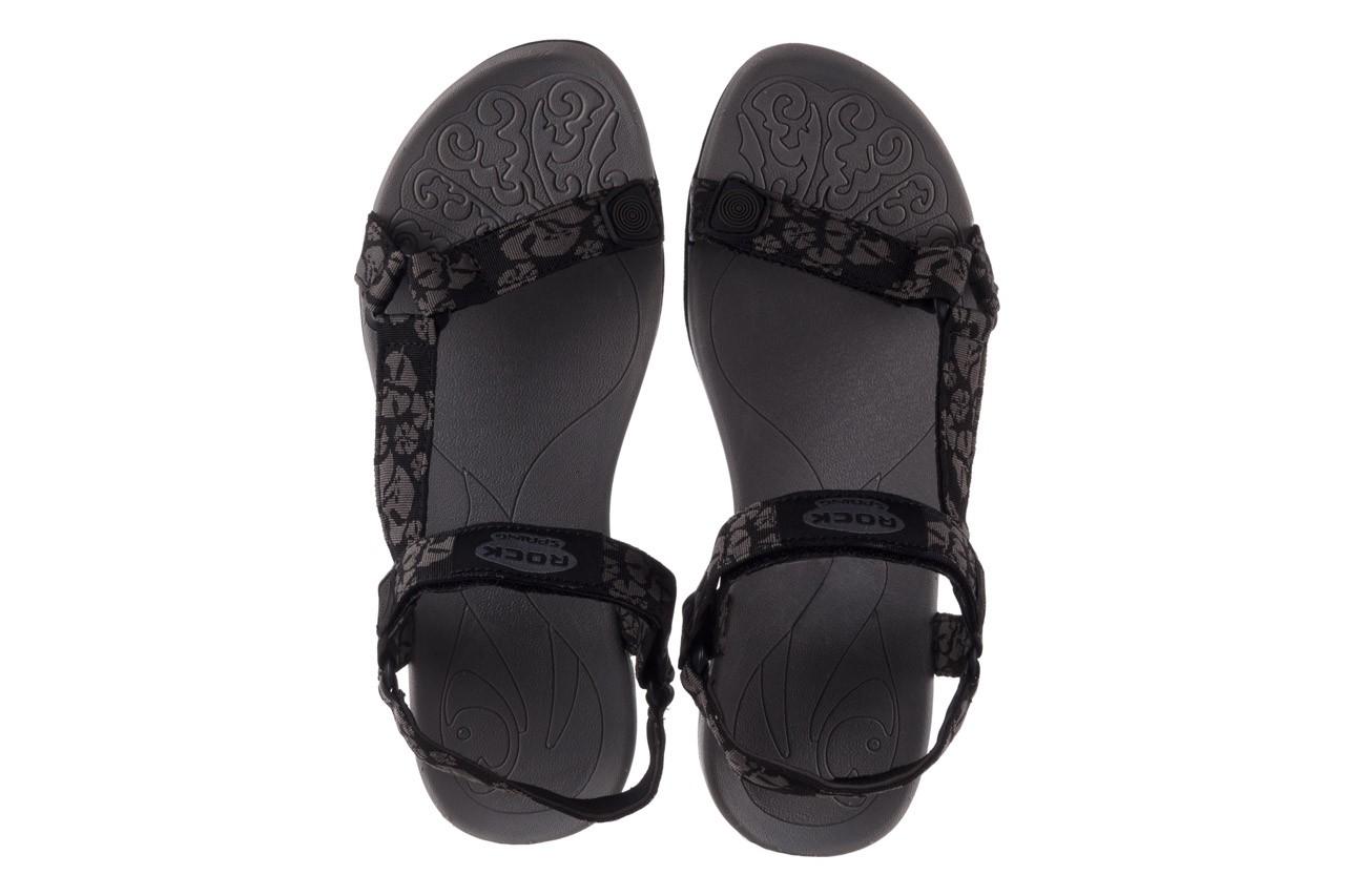 Sandały rock vinay black grey, czarny/ szary, materiał  - sandały - dla niej  - sale 11