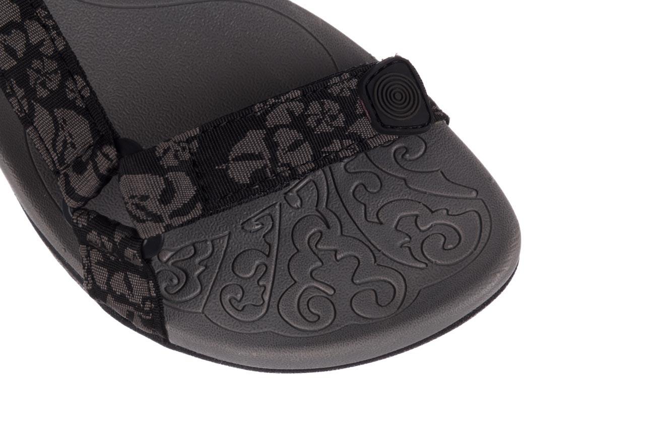 Sandały rock vinay black grey, czarny/ szary, materiał  - sandały - dla niej  - sale 12