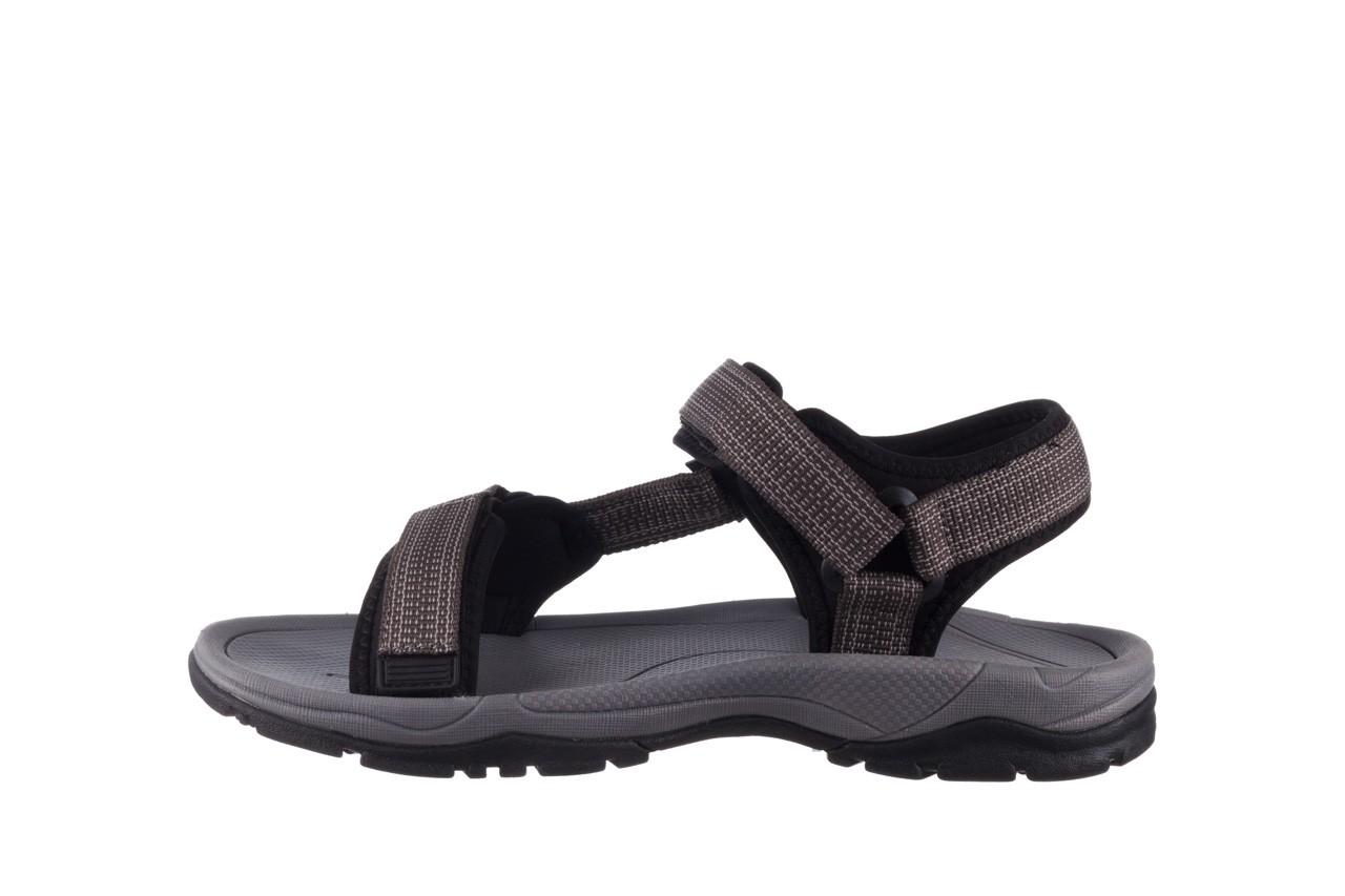 Sandały rock kern grey men, szary, materiał  - sandały - dla niego - sale 9