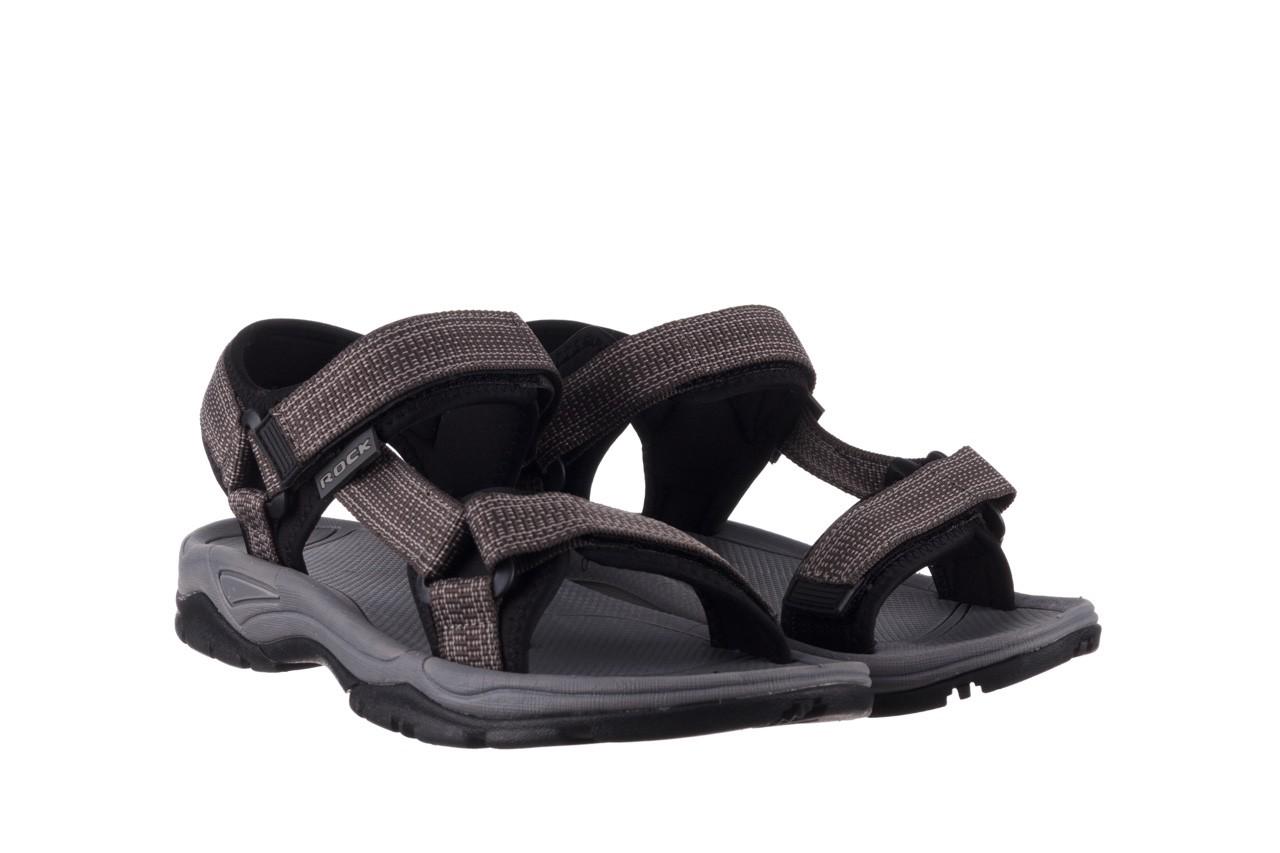Sandały rock kern grey men, szary, materiał  - sandały - dla niego - sale 8