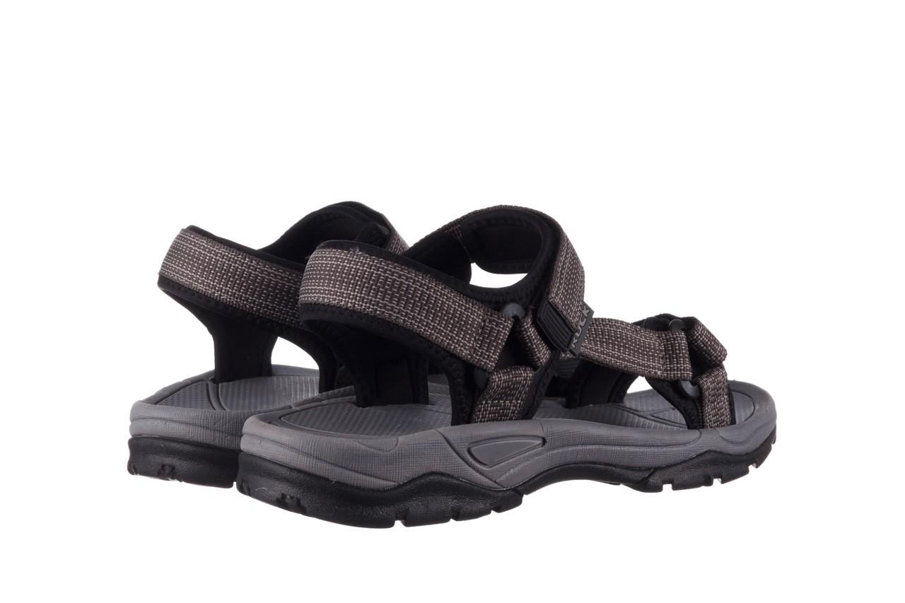 Sandały rock kern grey men, szary, materiał  - sandały - dla niego - sale 10