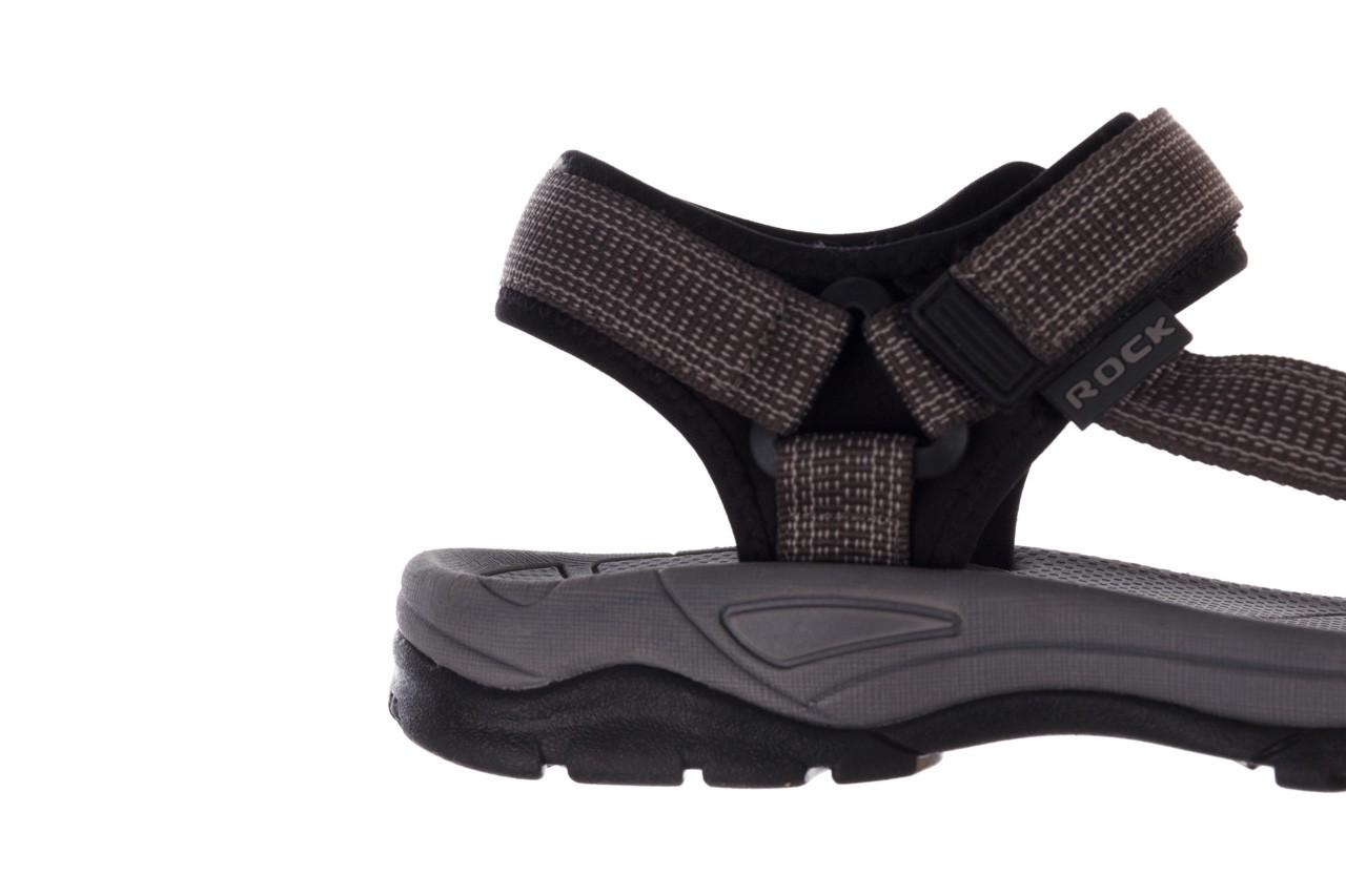 Sandały rock kern grey men, szary, materiał  - sandały - dla niego - sale 13